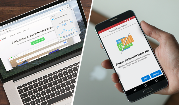 Opera's ad-blocking functionality is now available across desktop and mobile.