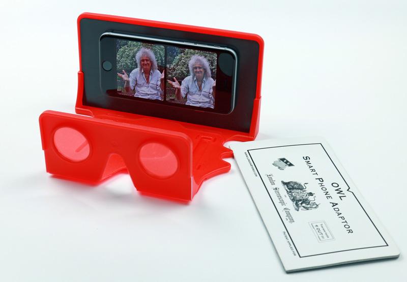 Brian May's London Stereoscopic Company's Owl VR Smart Phone Kit
