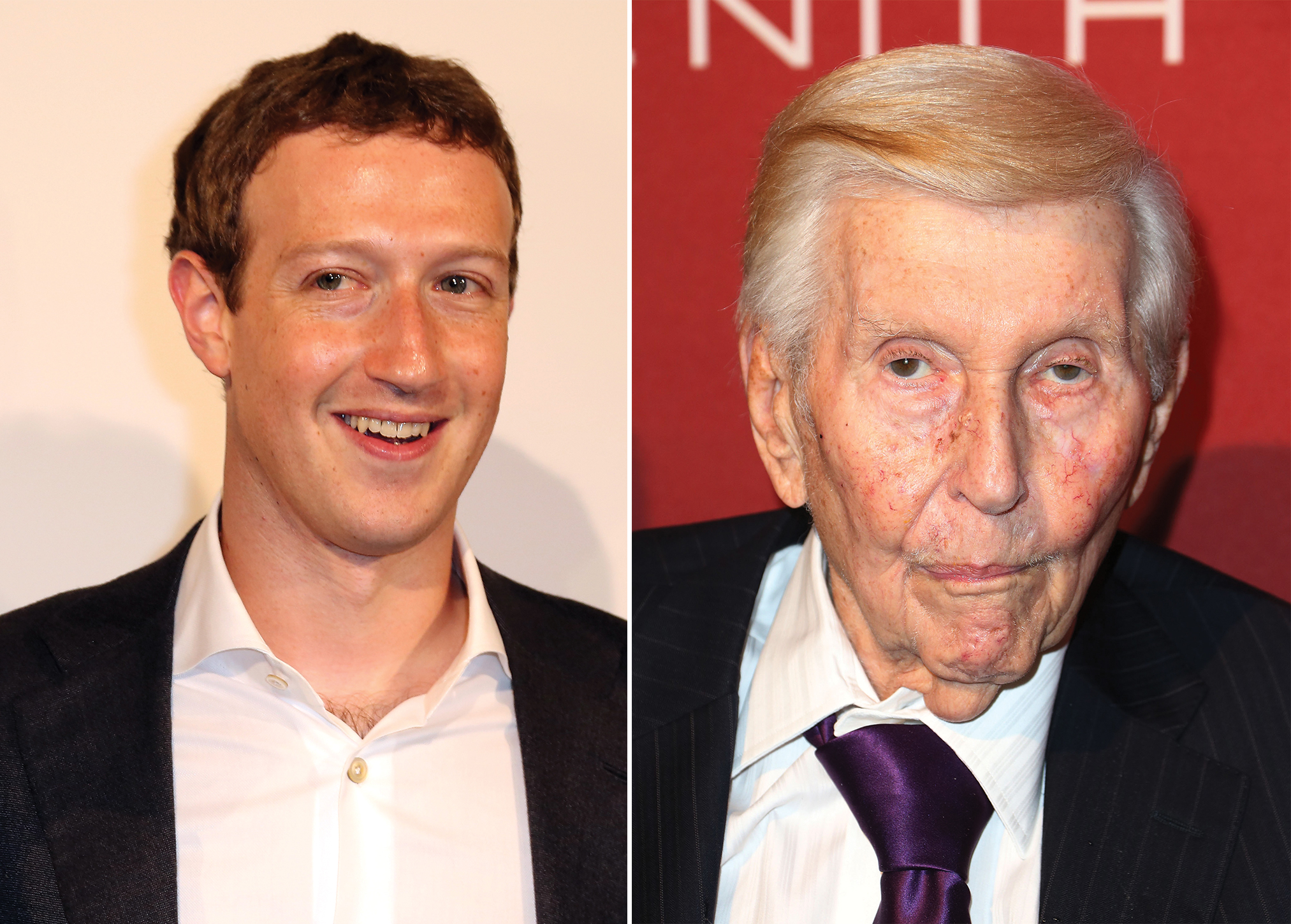 Mark Zuckerberg and Sumner Redstone.