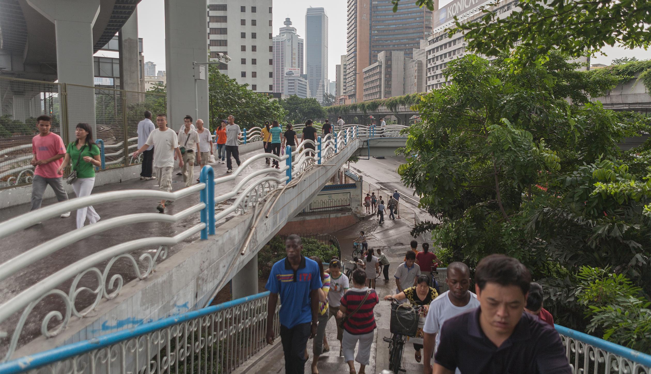 The pedestrian bridge, July 30, 2009