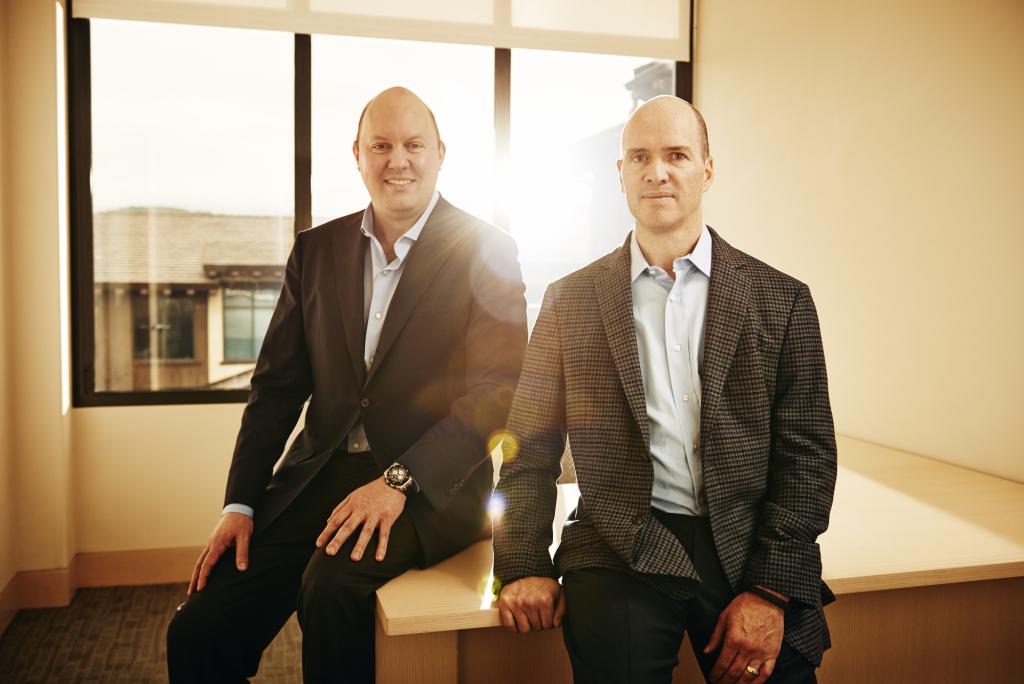 Marc Andreessen (L) and Ben Horowitz