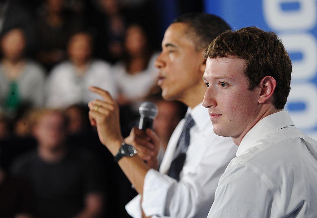 US President Barack Obama speaks as Face