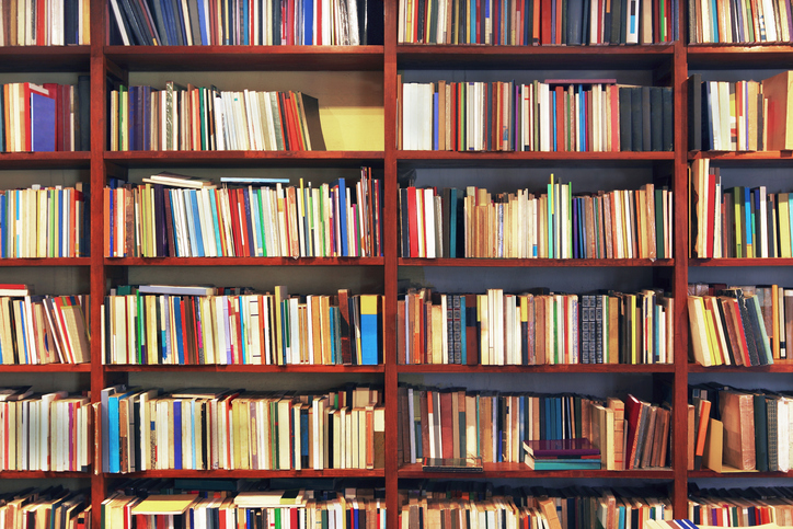 Books in a secondhand bookstore