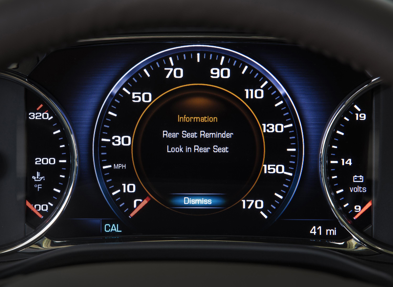 Rear Seat Reminder alert