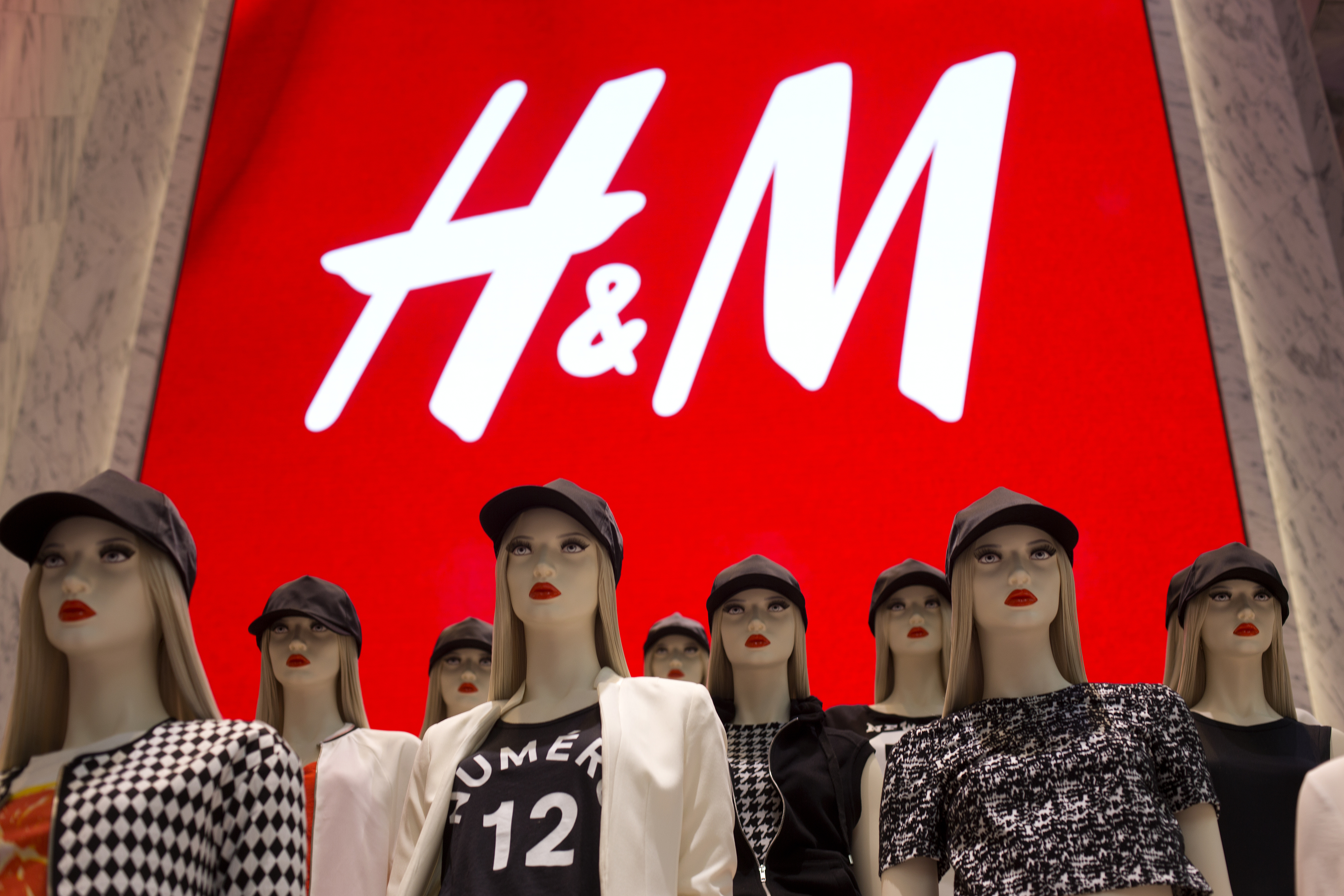 Shoppers Inside H&M During The Grand Opening Of New Flagship Store on Fifth Avenue