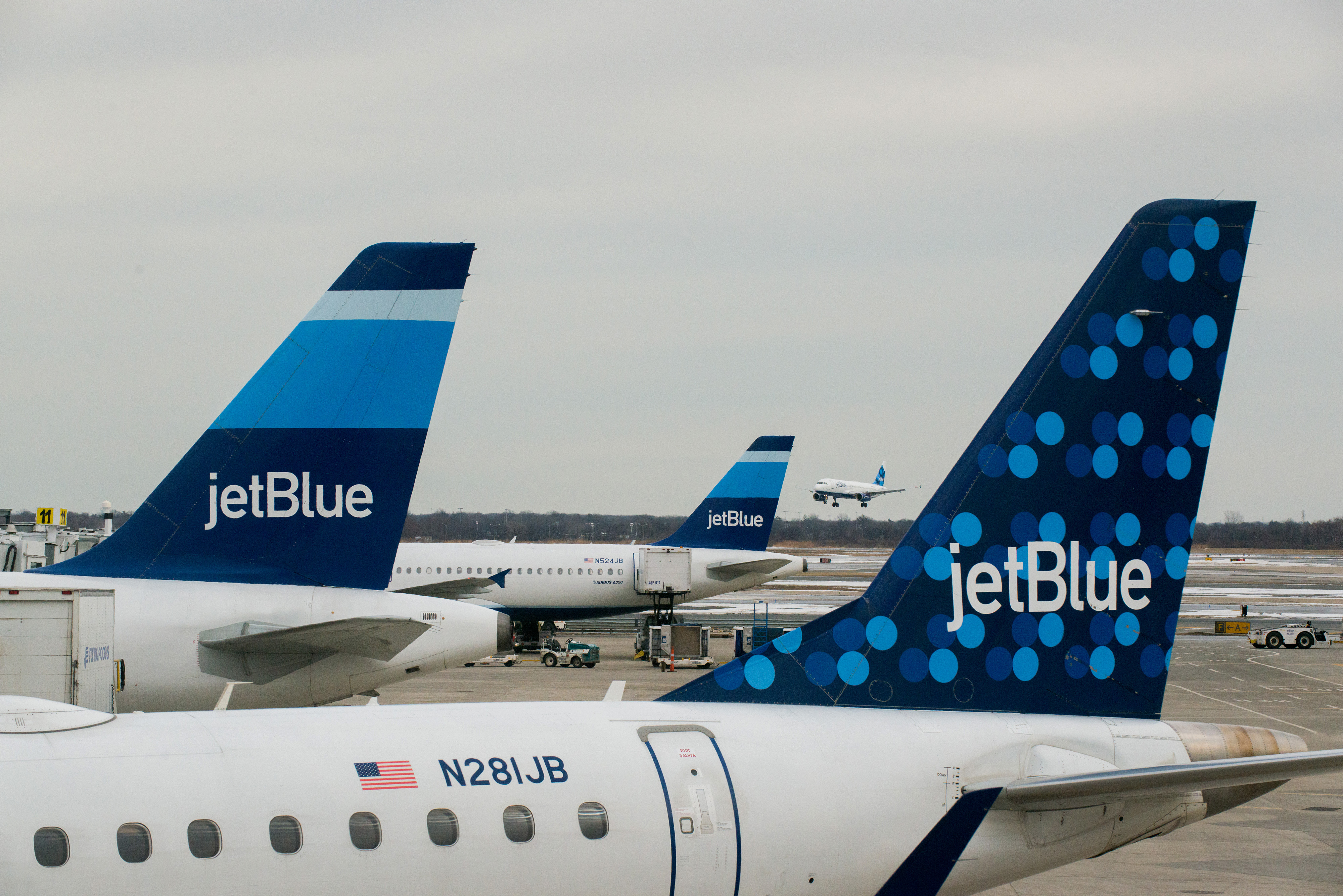 Operations At JetBlue Airways Corp.'s Terminal 5 Ahead of Earnings Figures