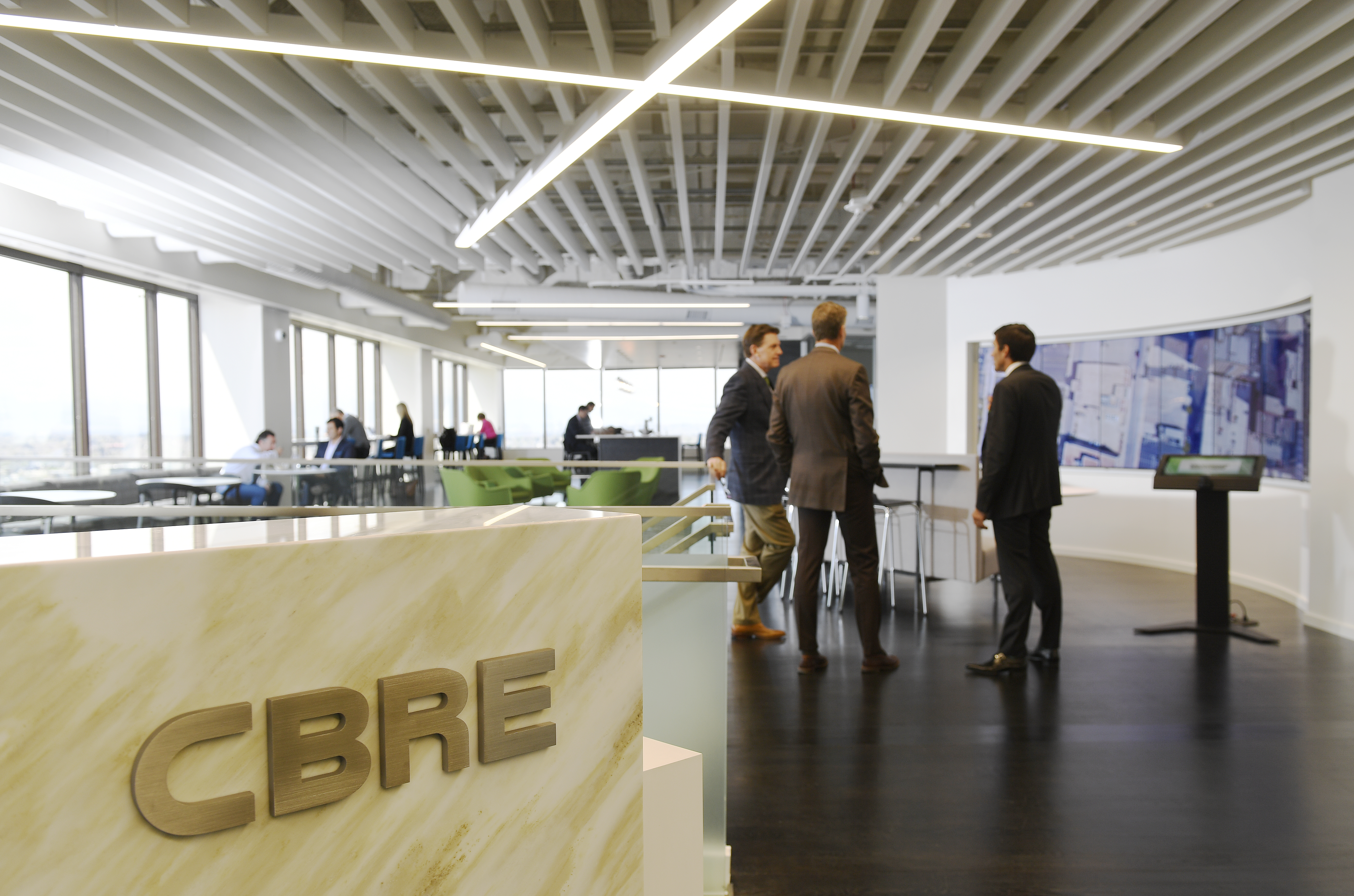 The commercial real estate firm CBRE just opened it's new Workplace360 office for it's downtown Denver office.