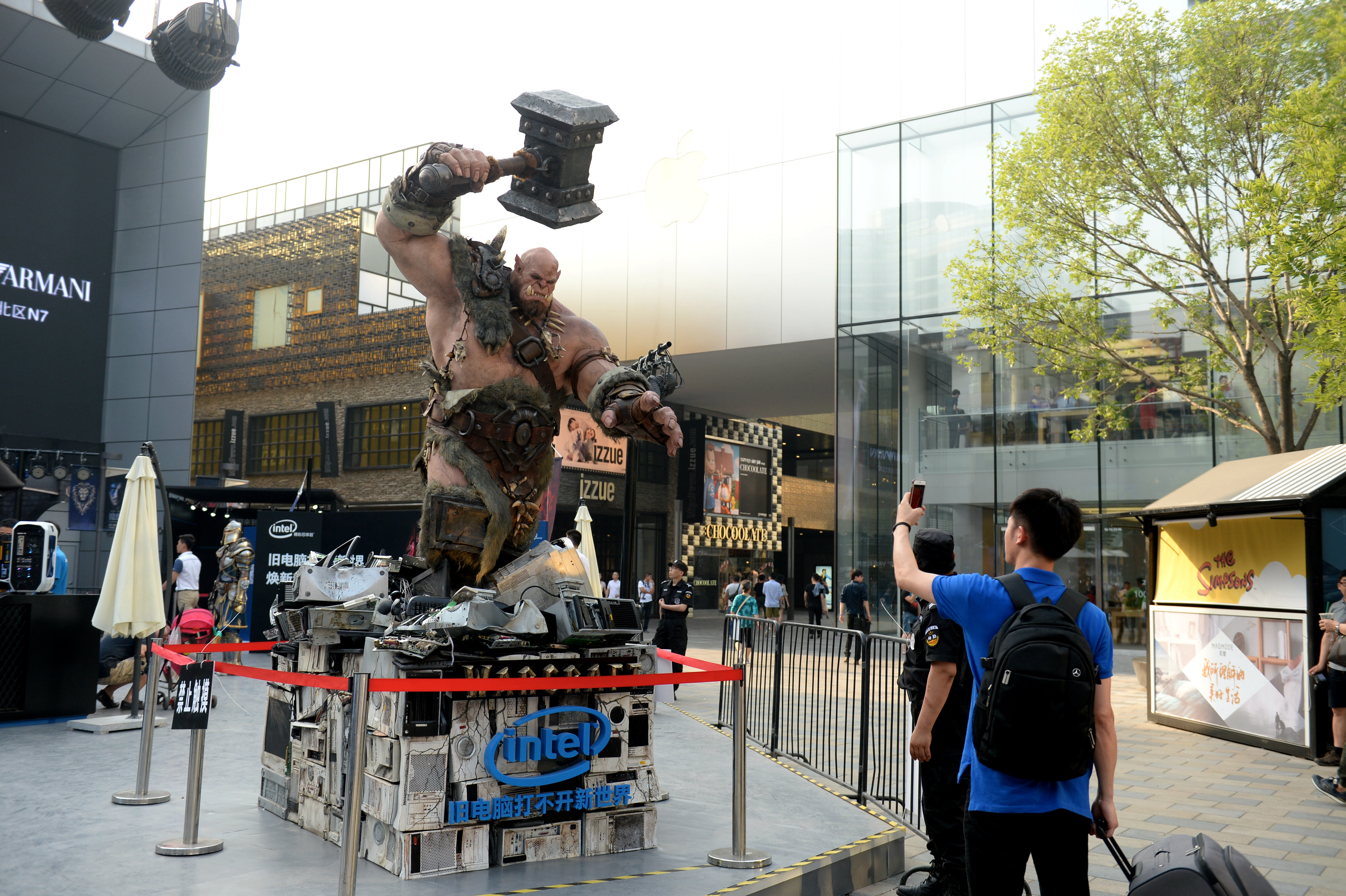 World Of Warcraft And Intel Hold The Campaign At Beijing Sanlitun