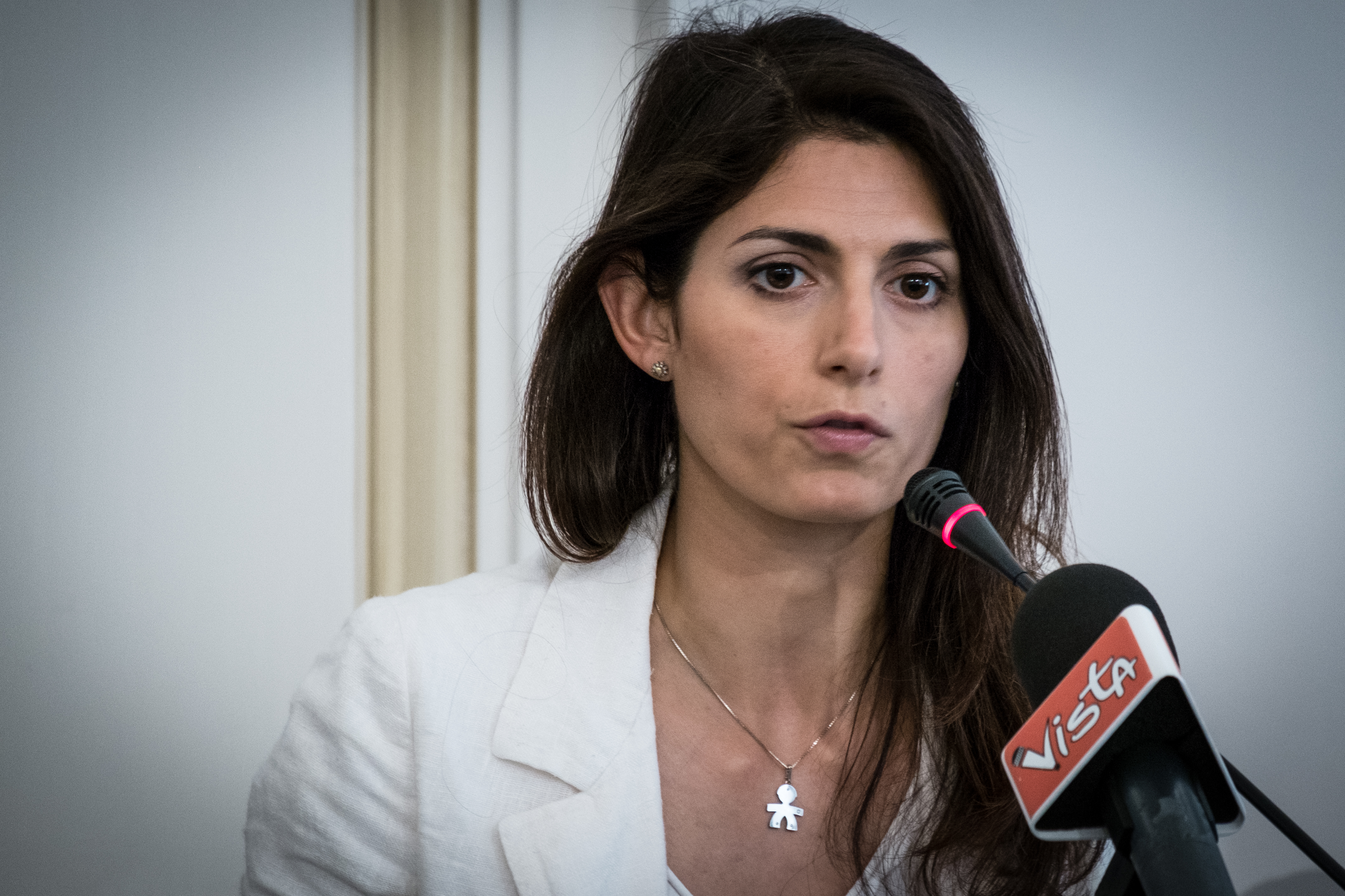 Virginia Raggi, the candidate for mayor of Rome M5S at the