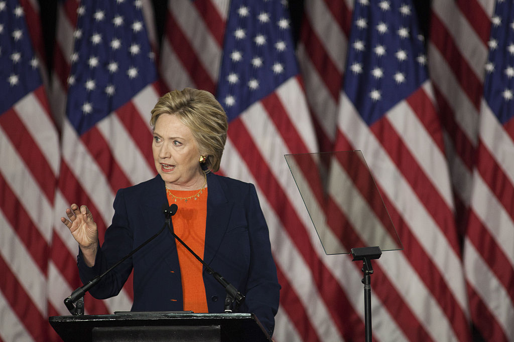 Presidential Candidate Hillary Clinton Delivers Speech On Foreign Policy