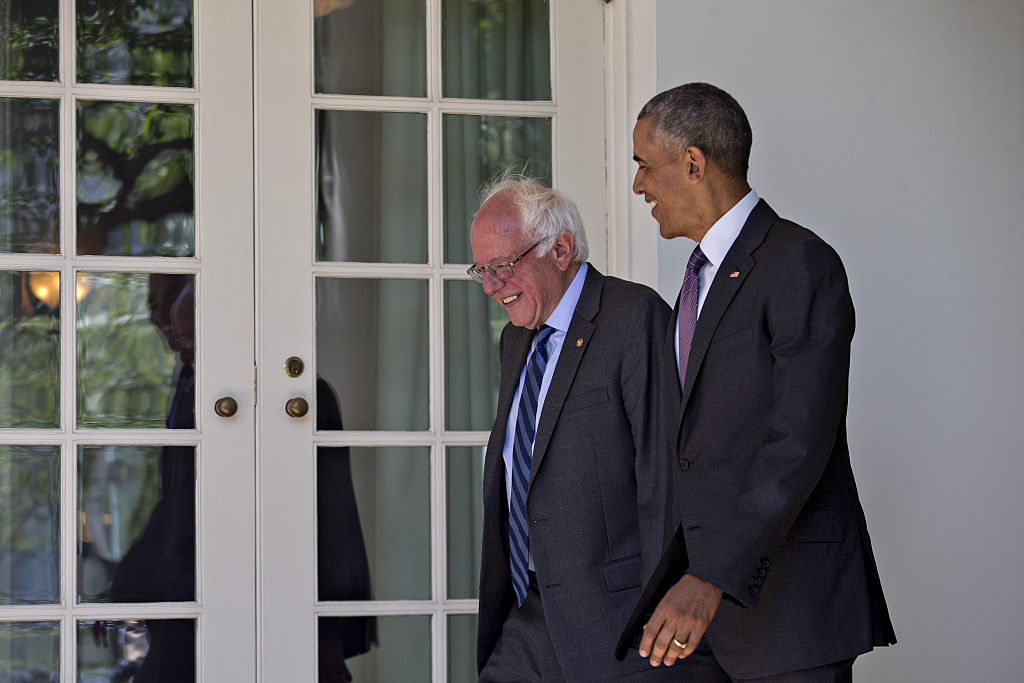 President Obama Meets With Presidential Candidate Bernie Sanders At White House