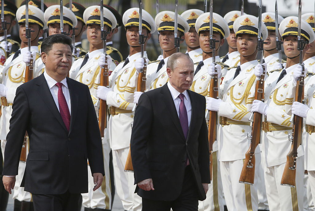 CAPTION CORRECTION! Russian President Putin on official visit to China