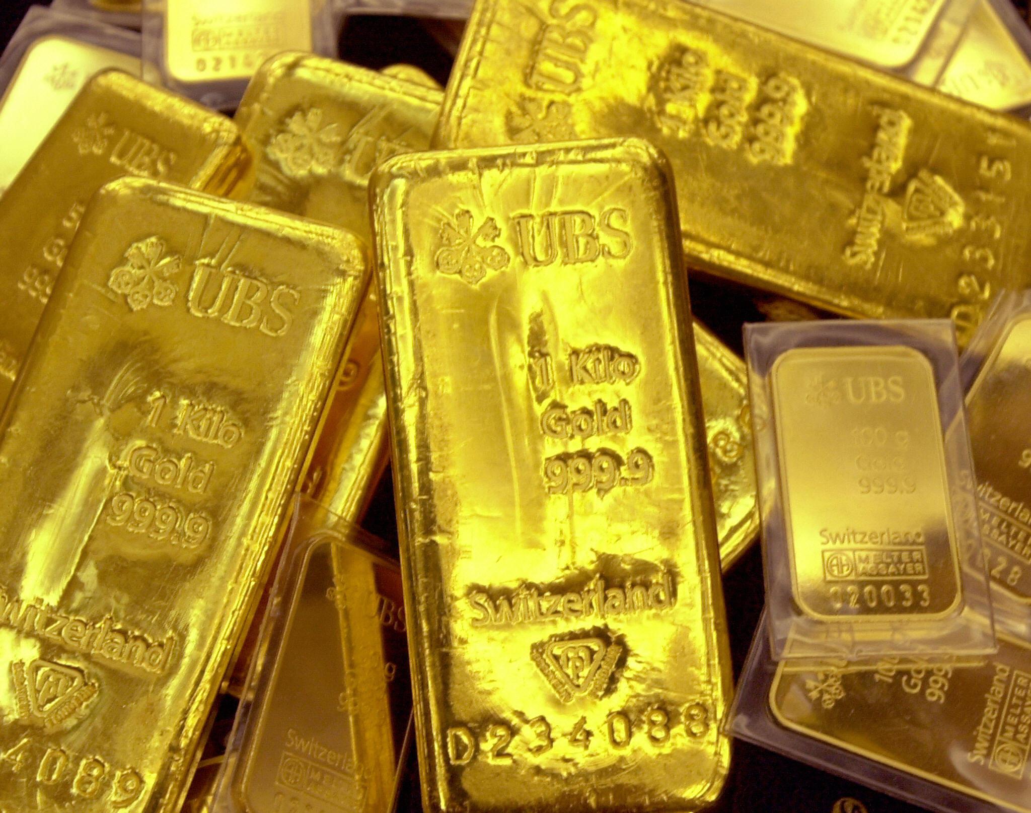 (FILES) Gold bullion is displayed at Shi