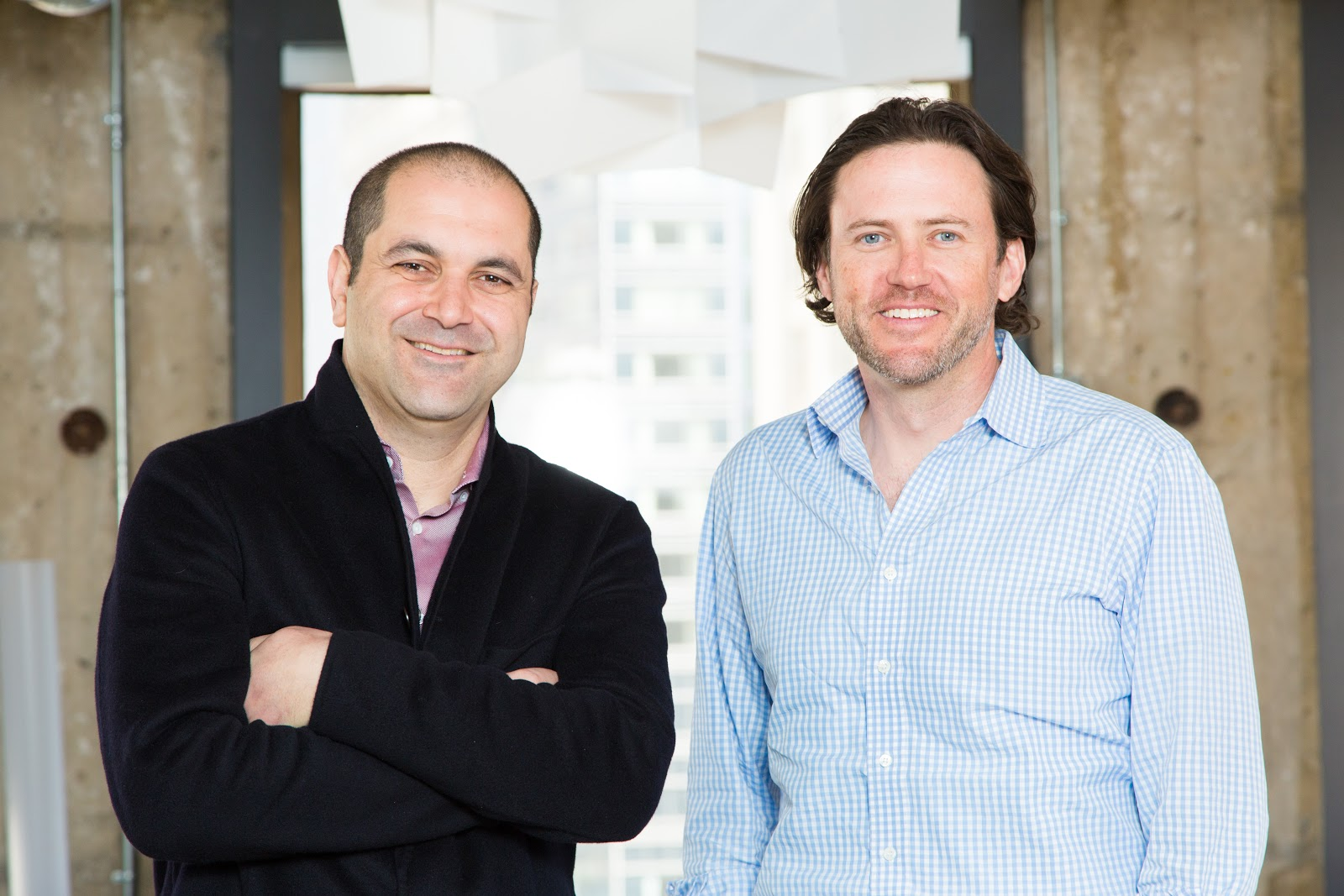 Shervin Pishever (left) and Scott Stanford (right), co-founders of Sherpa Capital.