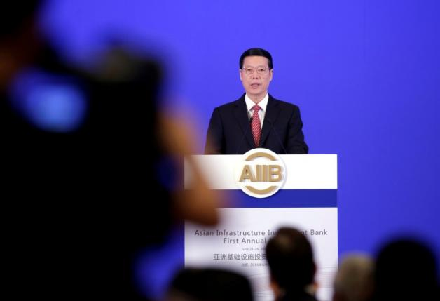 China's Vice Premier Zhang Gaoli attends the opening ceremony of the first annual meeting of AIIB in Beijing