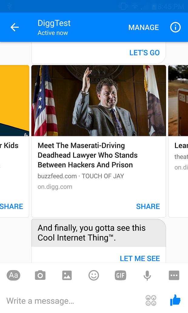 Digg news bot