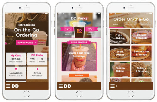 Dunkin' Donuts is nationally launching mobile app capabilities to allow users the ability to place on-the-go orders.