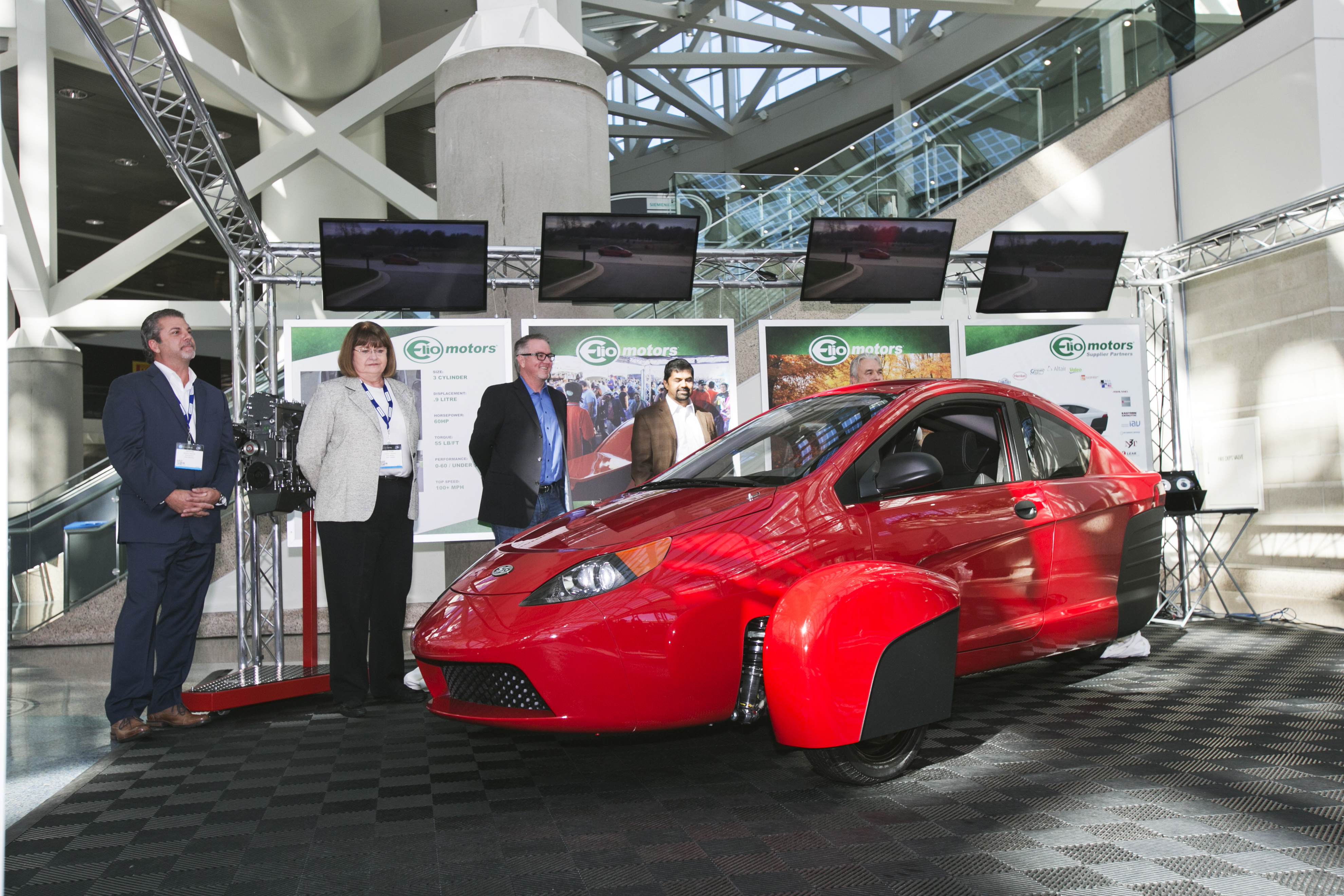 Elio Motors, with its low cost and high efficiency three-wheeler, was a highlight of last year's Top Ten Auto Startups List.