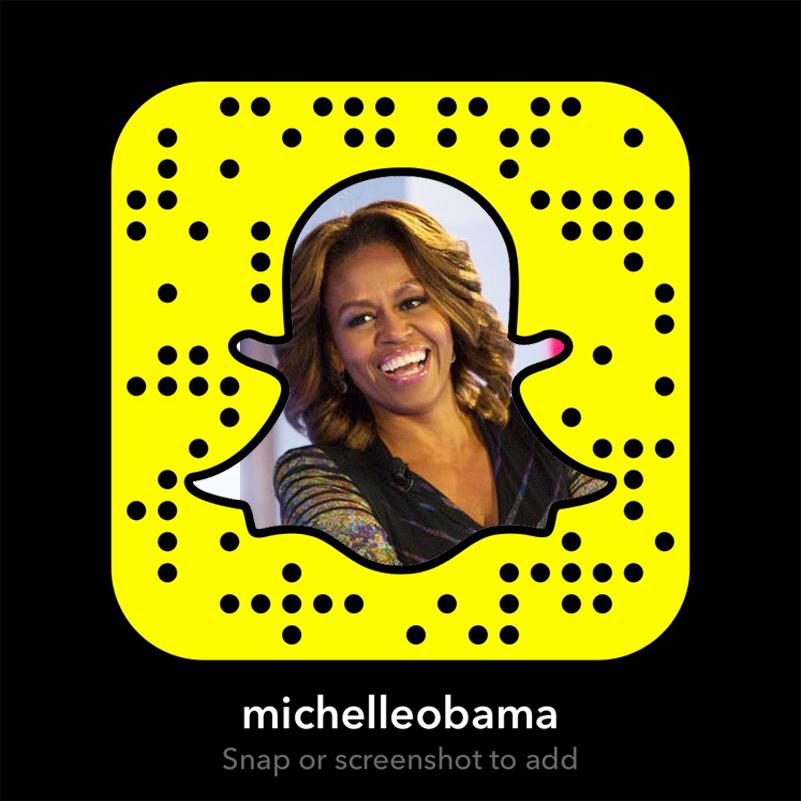 Michelle Obama's Snapchat icon