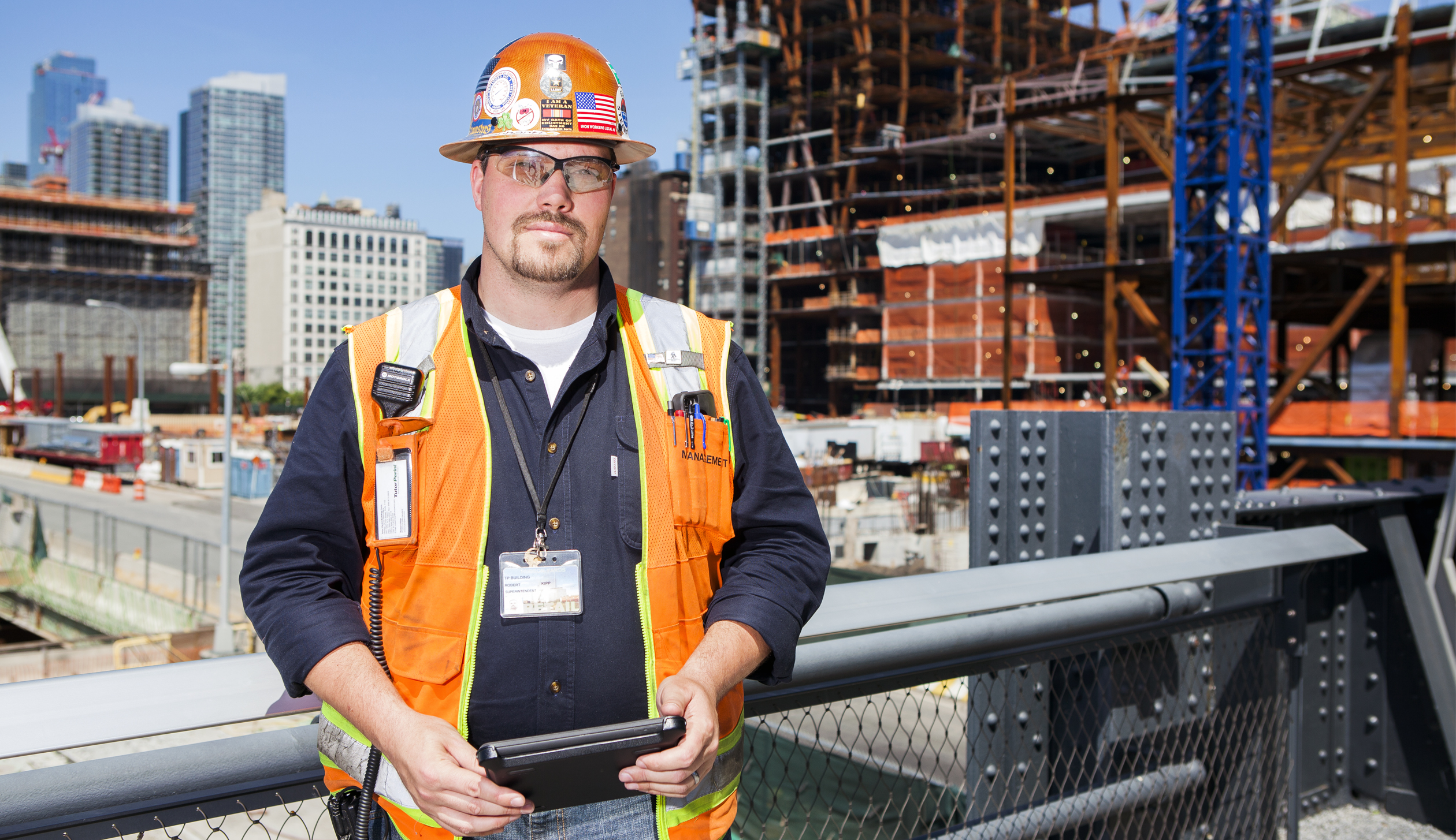 Robert Kipp, Superintendent, Tutor Perini at the Hudson Yards Project in New York.