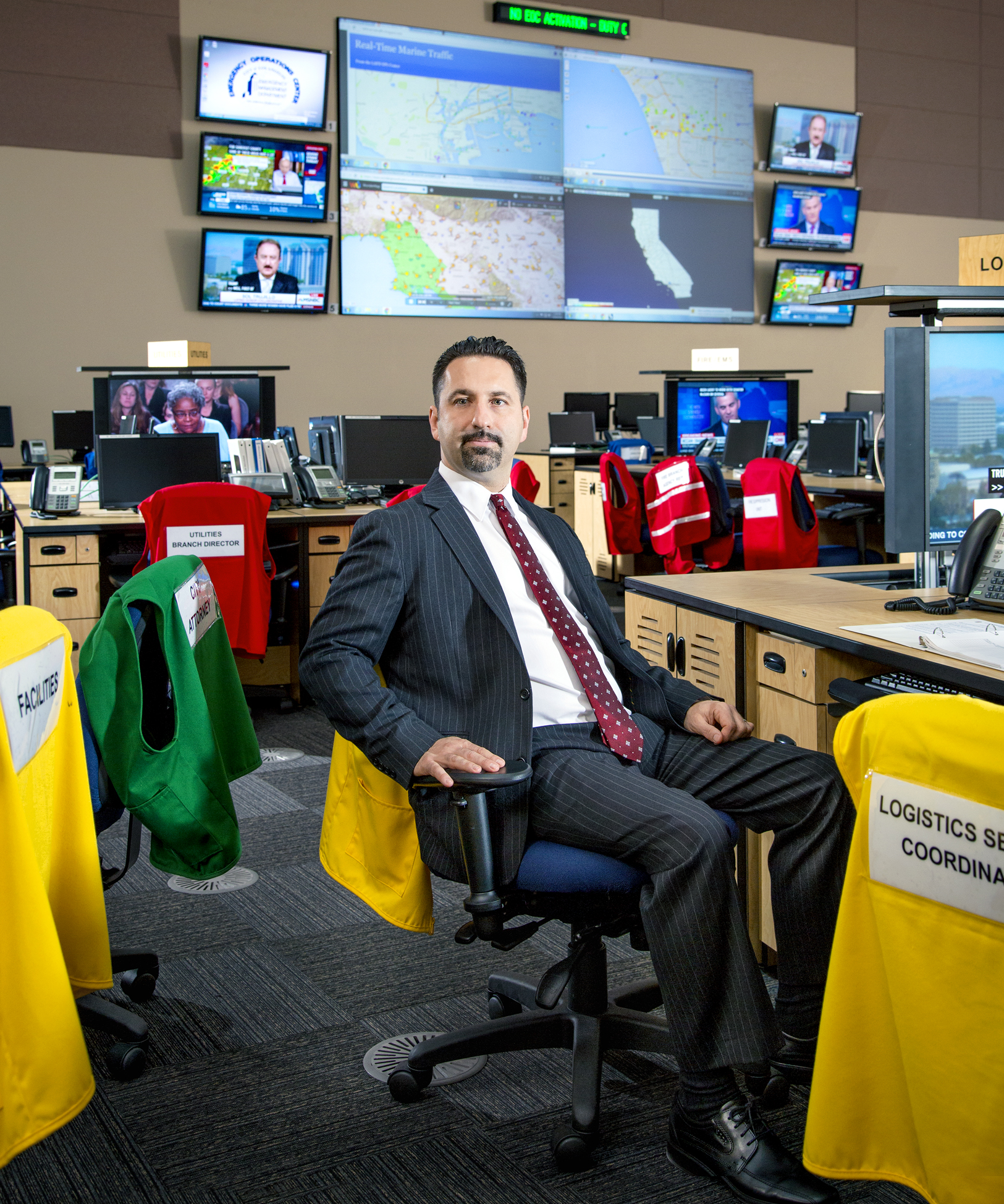 Ted Ross, CIO, City of Los Angeles photographed in LA's Emergency Operation Center.