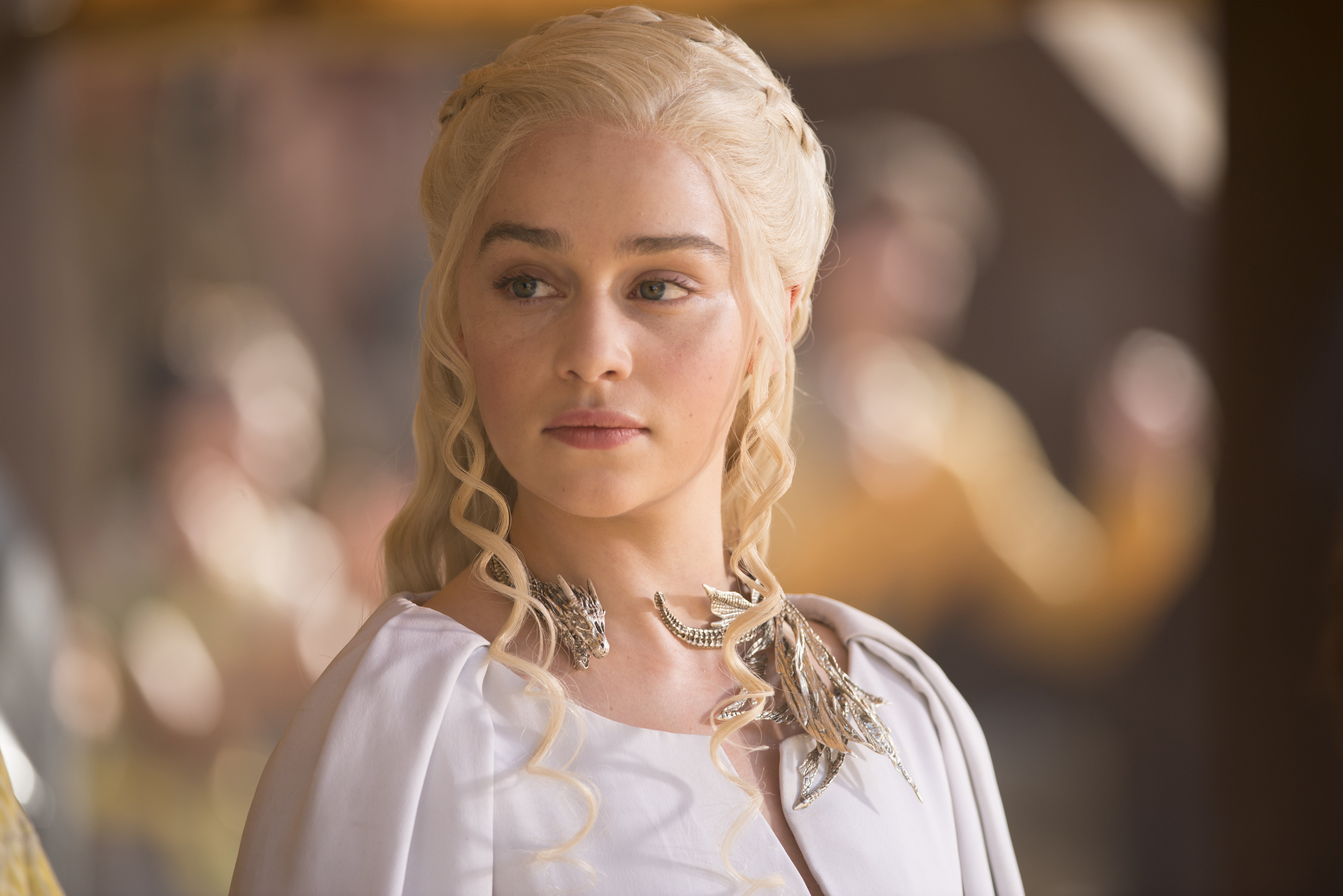 Game of Thrones (HBO) TV Series Season 5, 2015Episode: The Dance of Dragons Airdate: June 7, 2015Shown: Emilia Clarke