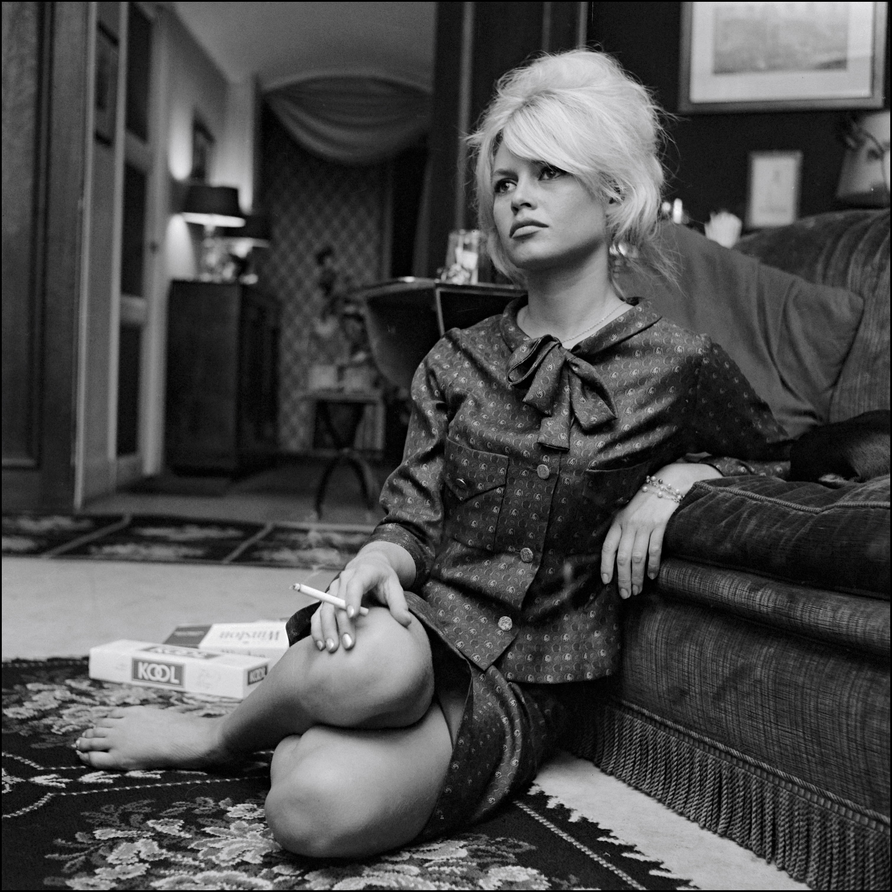 Brigitte Bardot at home In France In January 1962.