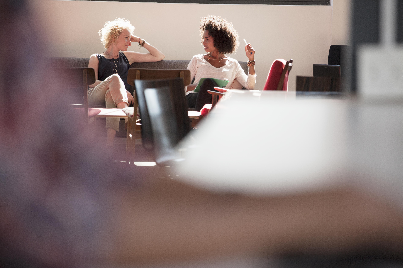 Businesswomen having meeting in modern office