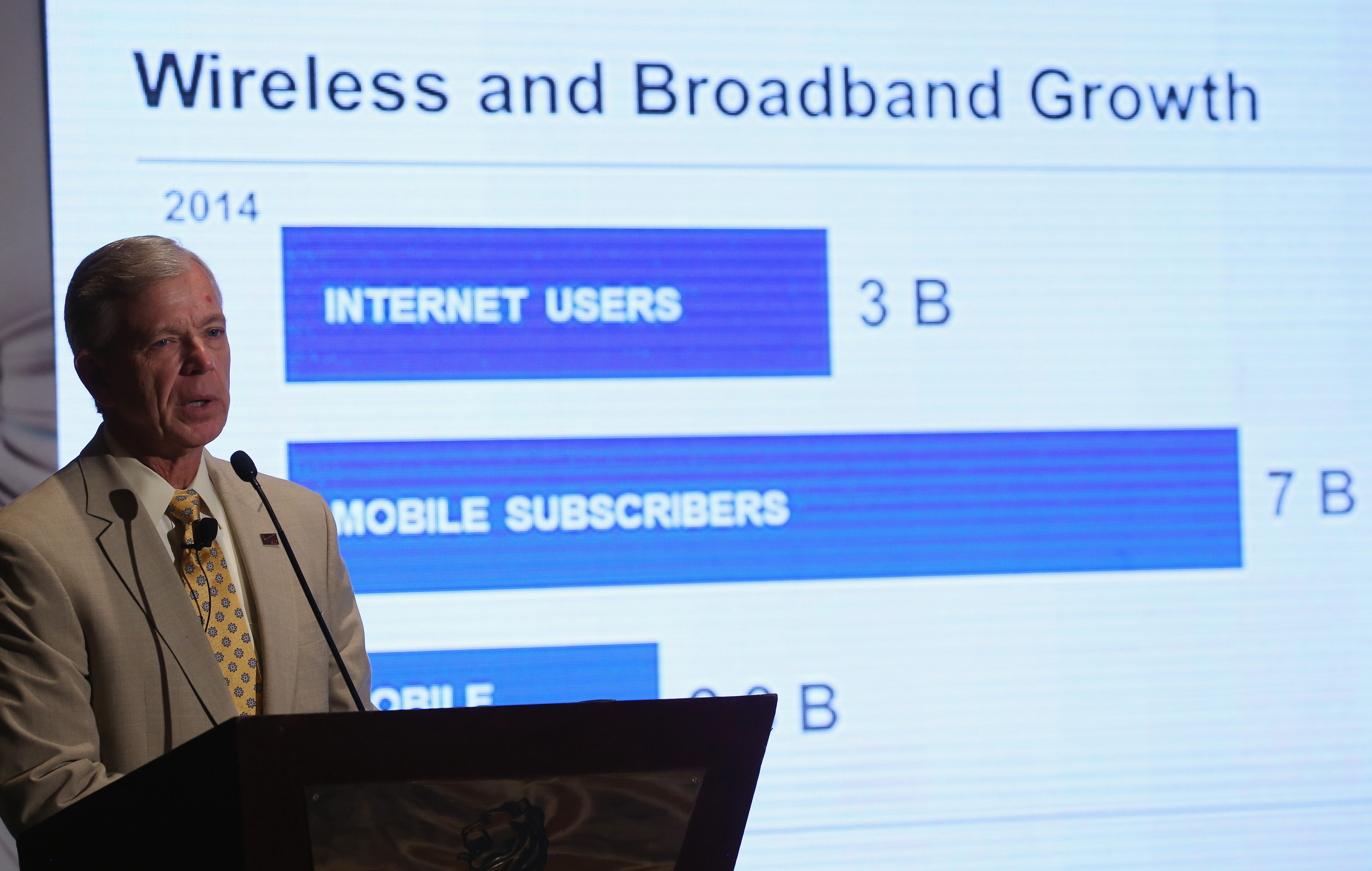 Verizon CEO Lowell McAdam Speaks Conference In Arlington, Virginia
