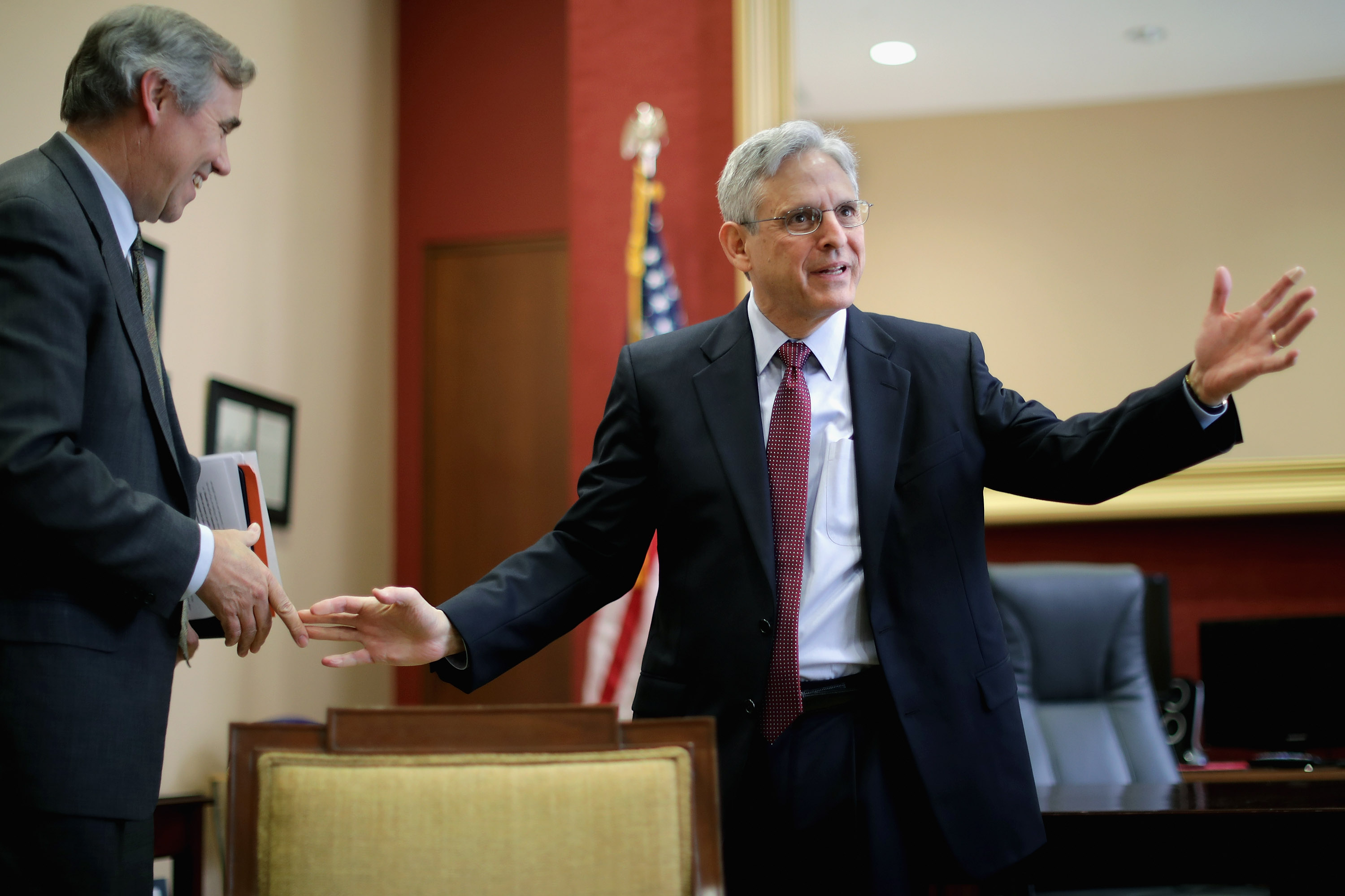 Sen. Jeff Merkley Meets With Supreme Court Nominee Merrick Garland