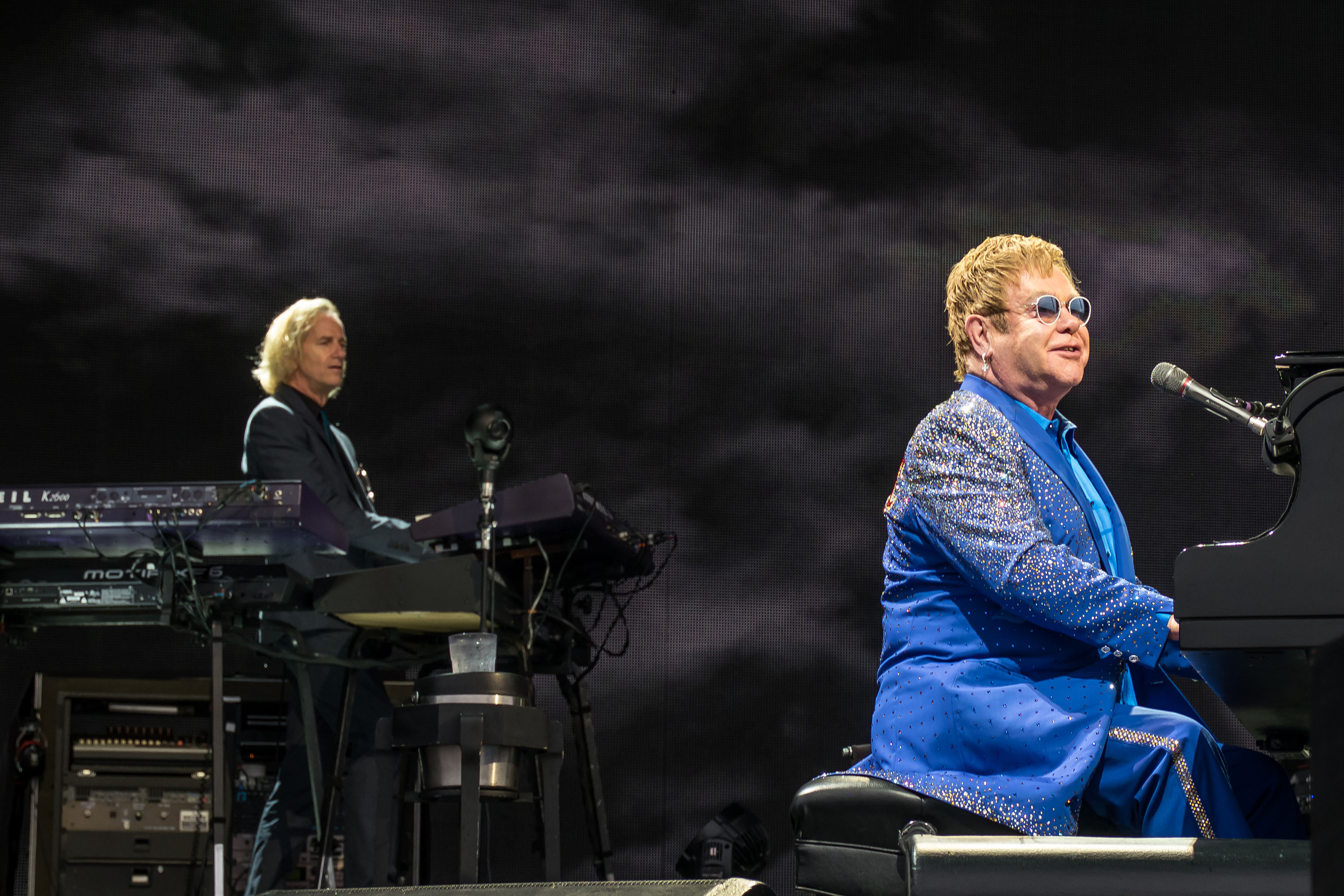 Elton John Performs At Lincoln County Show Grounds