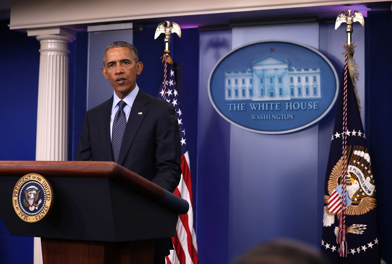 President Barack Obama addresses the Orlando mass shooting in Washington, DC.