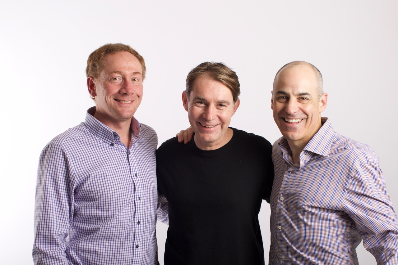 (Left to right) Gladly co-founders Michael Wolfe, Dirk Kessler, and Joseph Ansanelli.