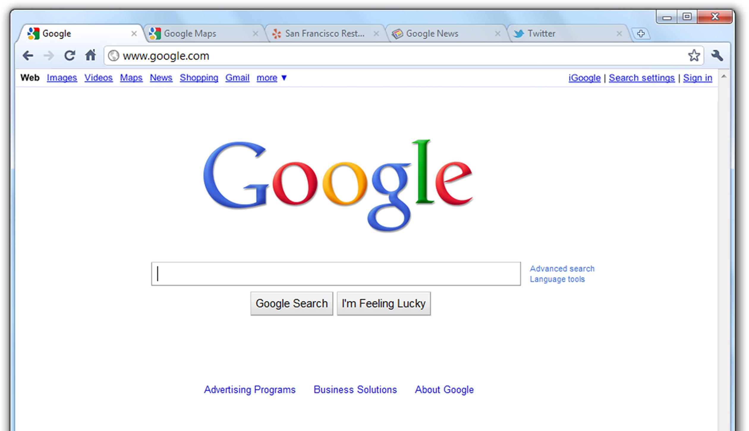 Google Chrome Menüleiste Installieren