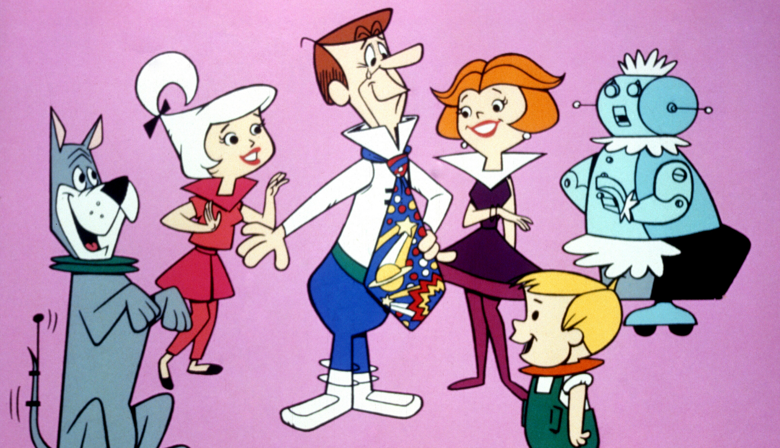 The Jetsons (Syndicated) 1962 - 1988Shown from left: Astro, Judy Jetson, George Jetson, Jane Jetson, Elroy Jetson, Rosie the Robot