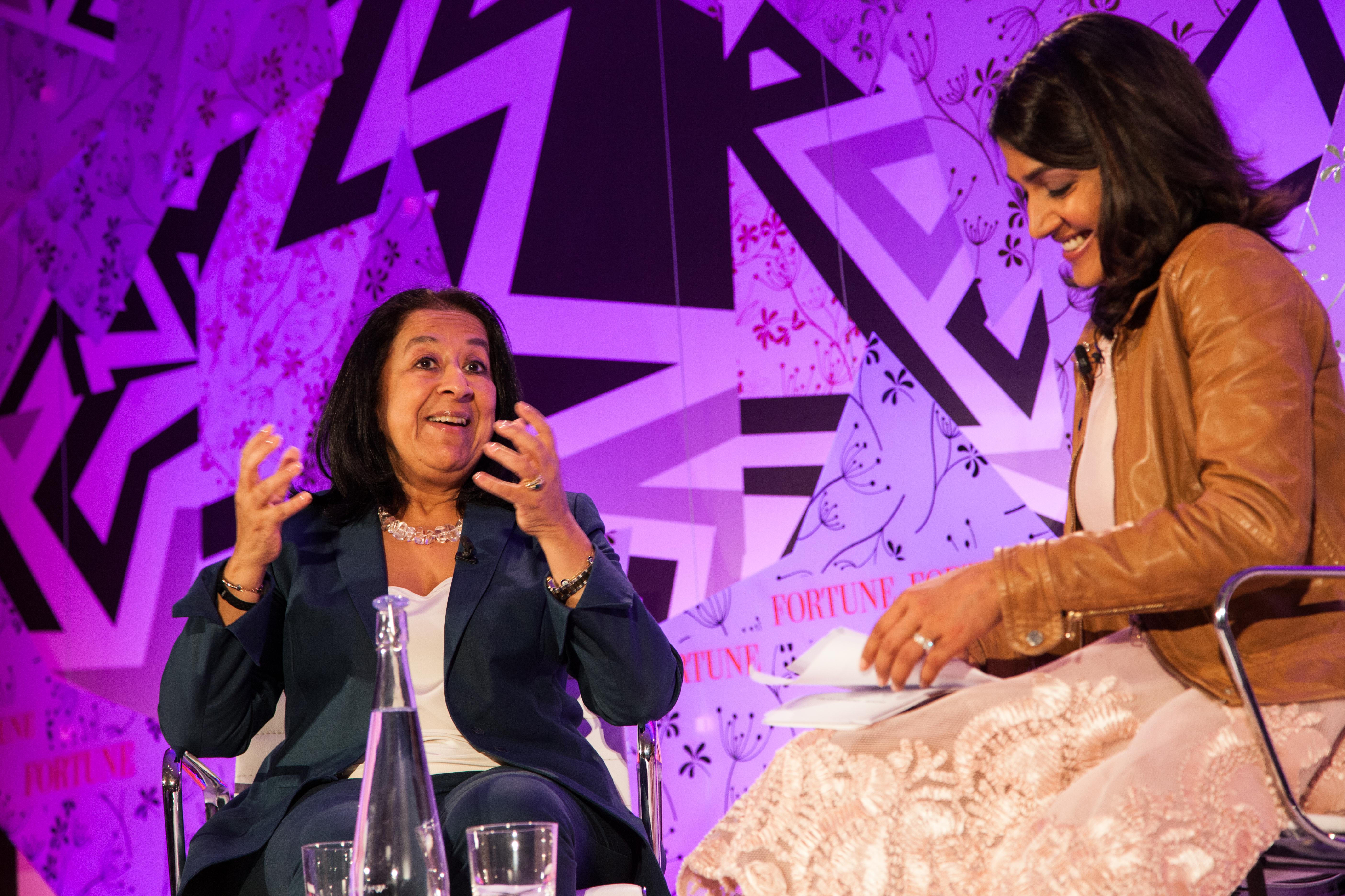 Lubna Olayan, CEO of Olayan Financing Company, talks with Fortune's Maithreyi Seetharaman.