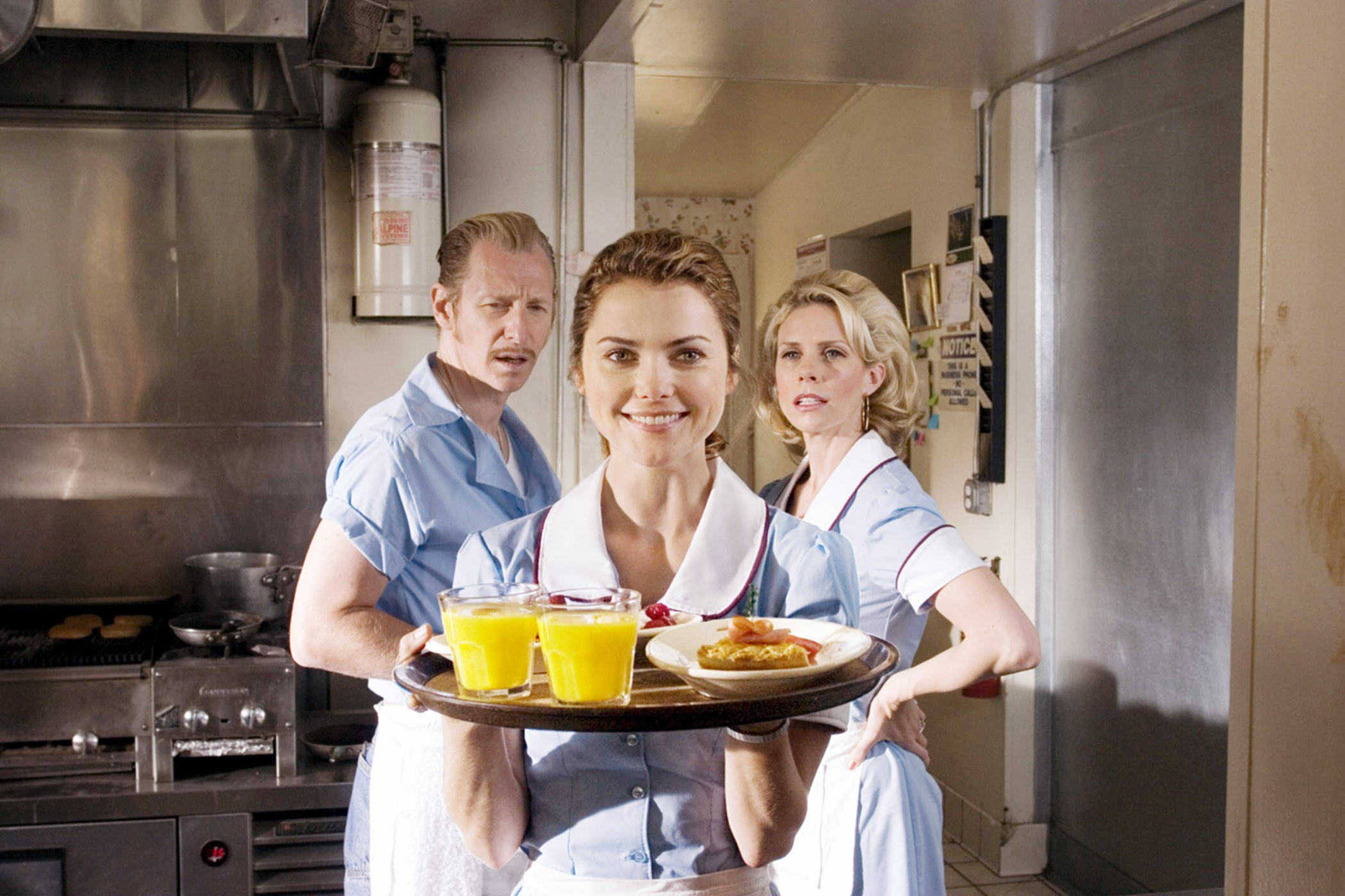 WAITRESS, Lew Temple, Keri Russell, Cheryl Hines, 2007. TM and copyright ©Fox Searchlight. All right