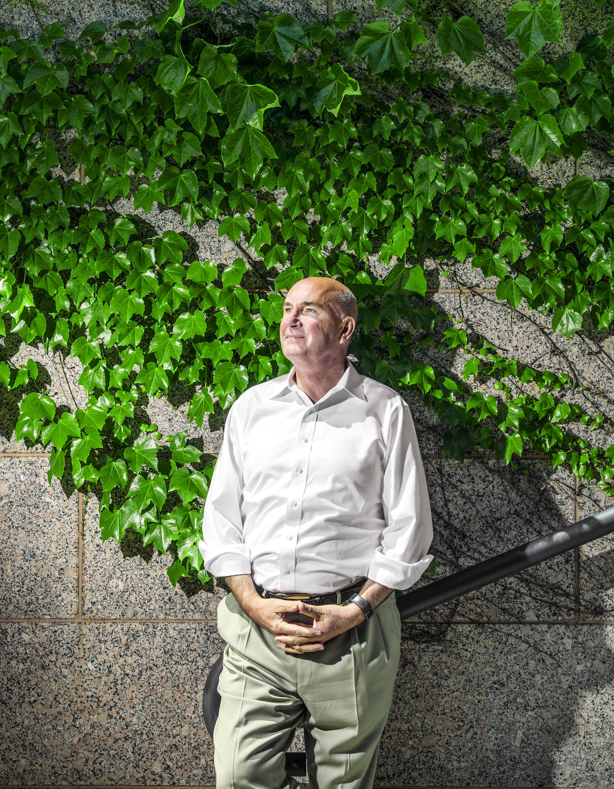 Monsanto Chairman and Chief Executive Officer Hugh Grant was photographed at the company's headquarters in Creve Coeur, Mo., on Thursday, May 5, 2016. Photo by Ryan Donnell