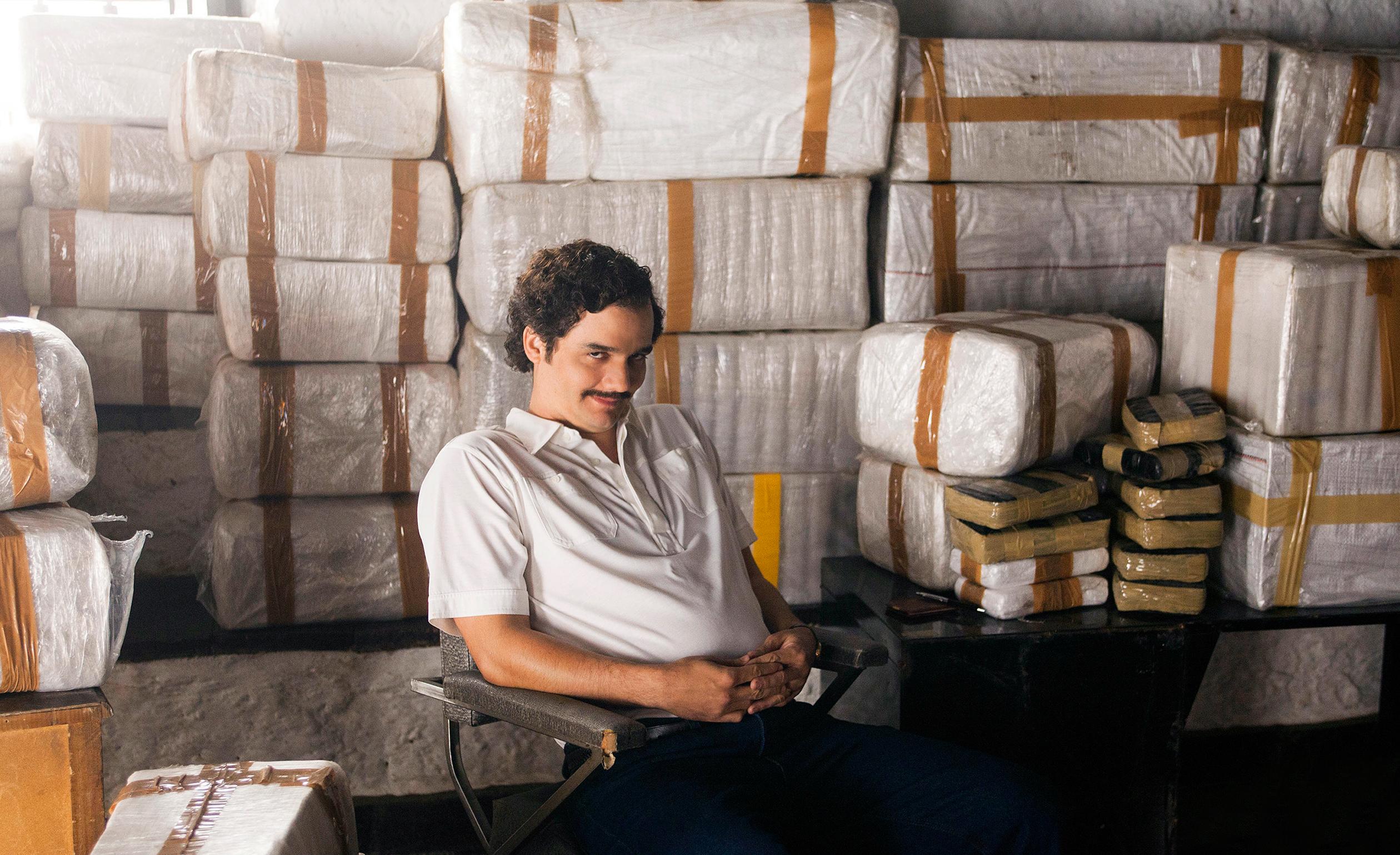 Wagner Moura portrays Pablo Escobar in Netflix's original series Narcos.