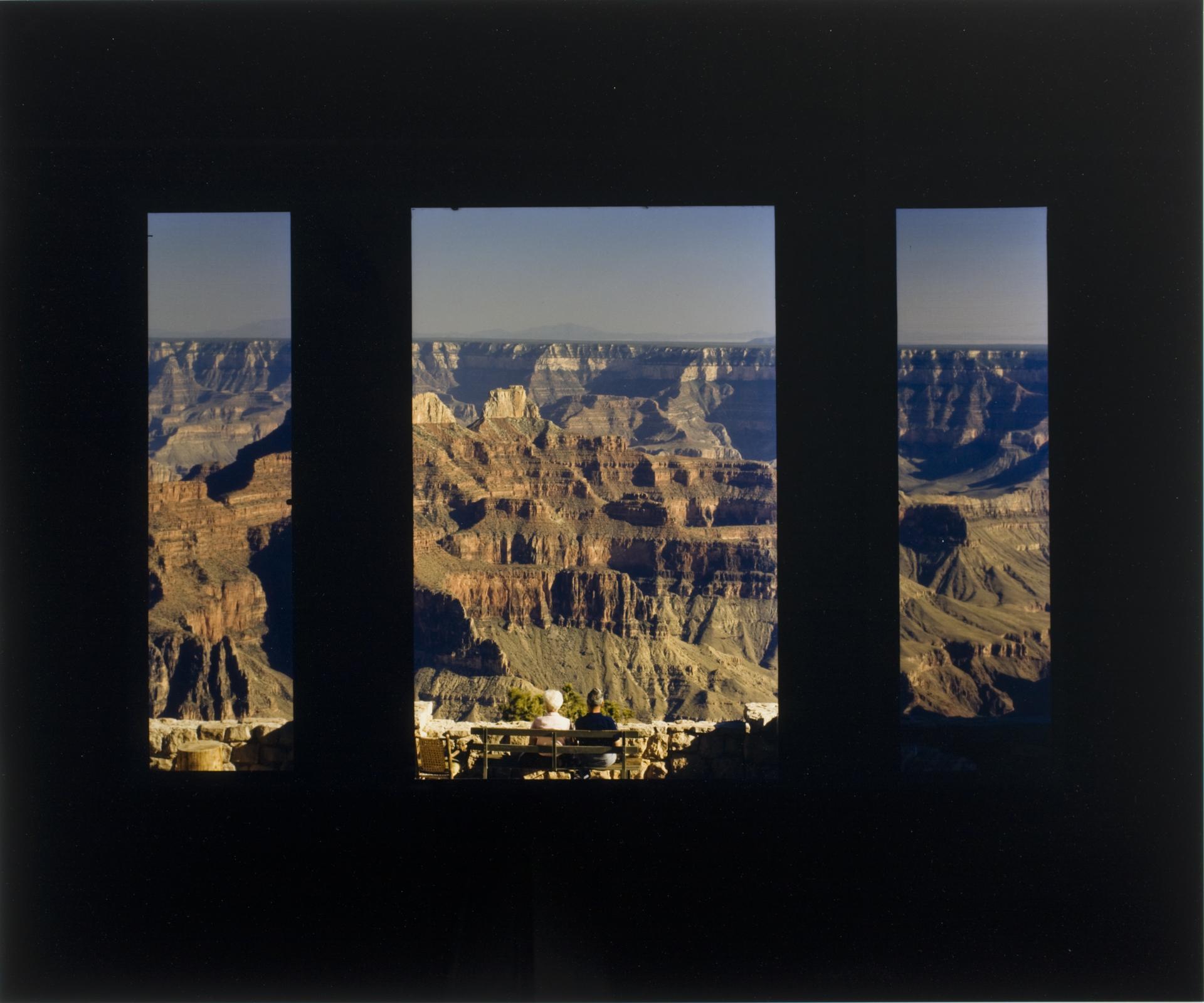 "John Pfahl (American, b. 1939). North Rim Highway, Grand Canyon, Arizona, June 1980. From the series ""Picture Windows"". Chromogenic development print, printed 1987. George Eastman Museum, gift of the photographer. © John Pfahl"