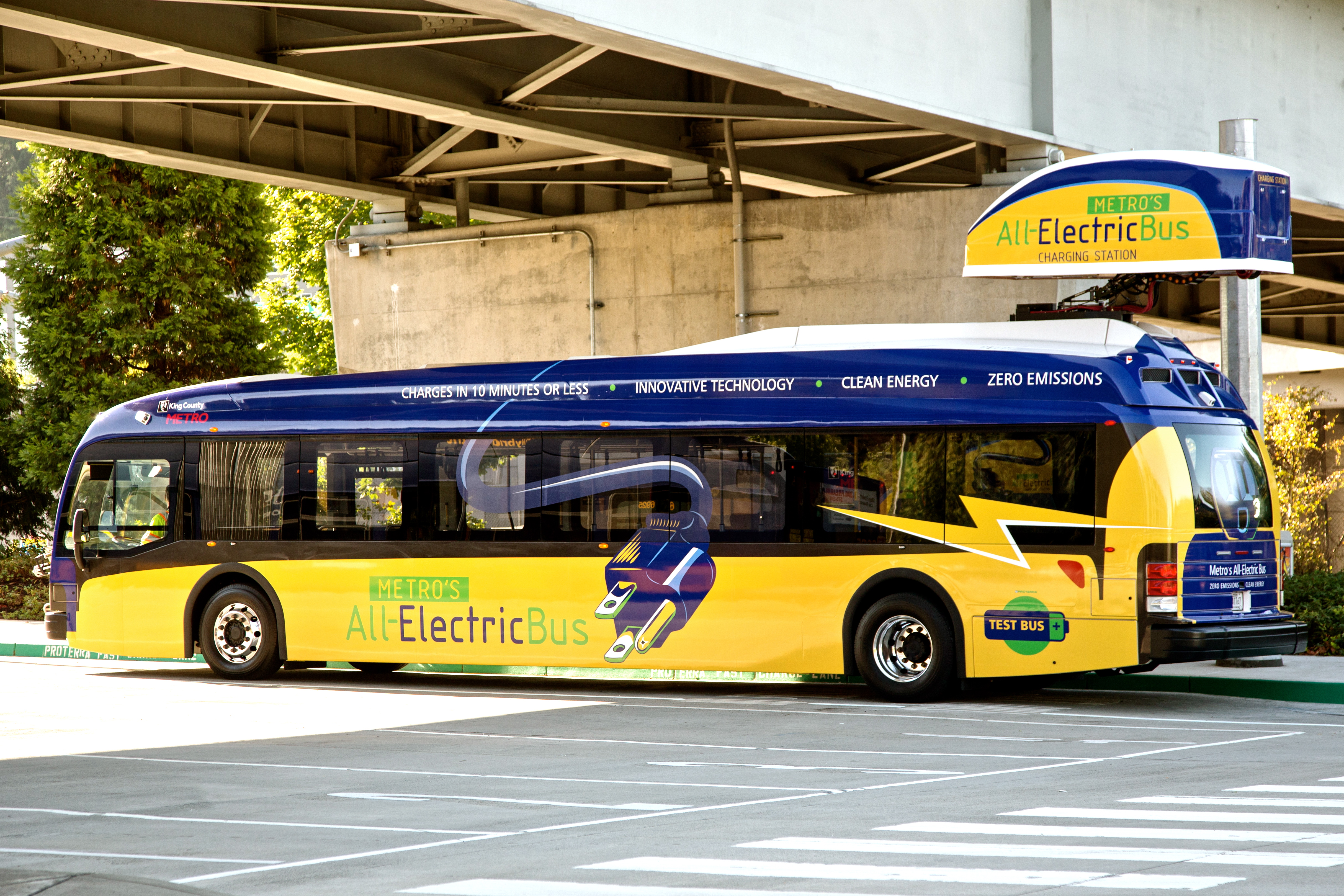 Proterra, an electric bus manufacturer, has released patents on its fast-charging technology.