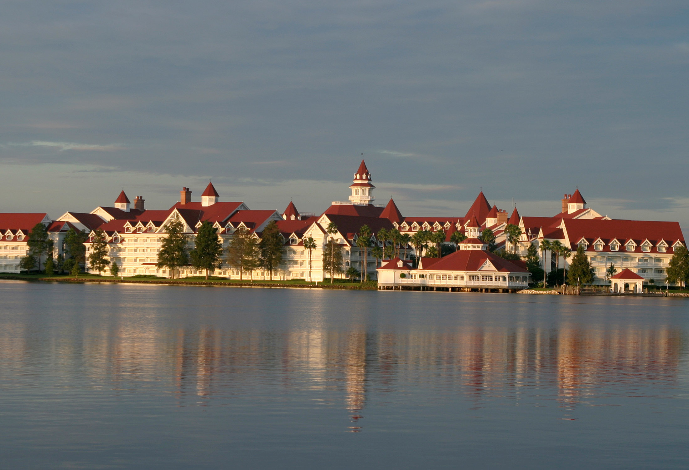 Early morning view of the Grand Floridian Resort and Spa located in the Magic Kingdom at Disney World in Orlando