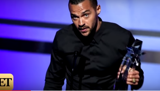 Jesse Williams gave an emotional speech when he won an award at the BET Awards.