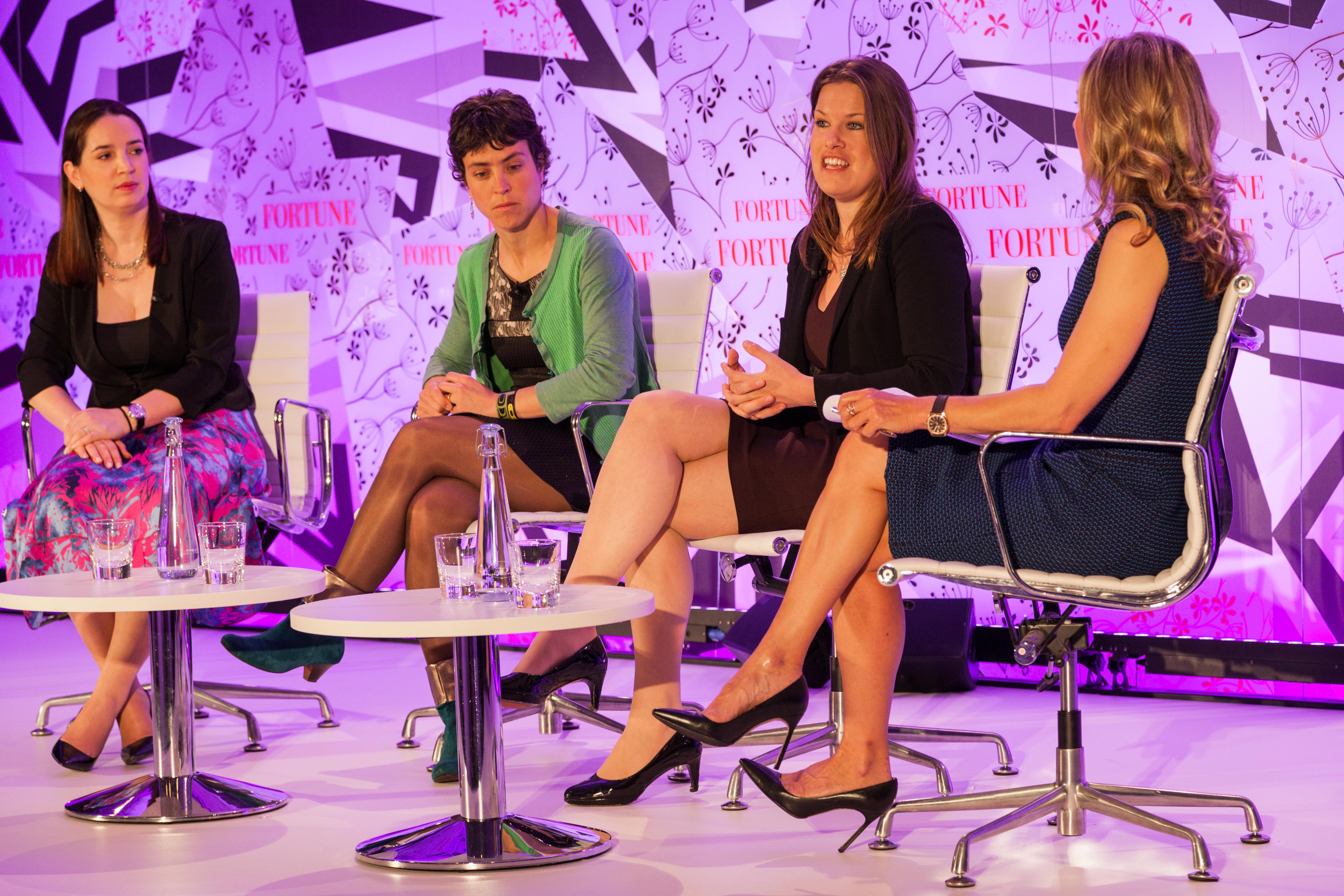 Maelle Gavet, Marie Ekeland, Jo Bertram, and Juliet de Baubigny at Fortune's Most Powerful Women International Summit in London.