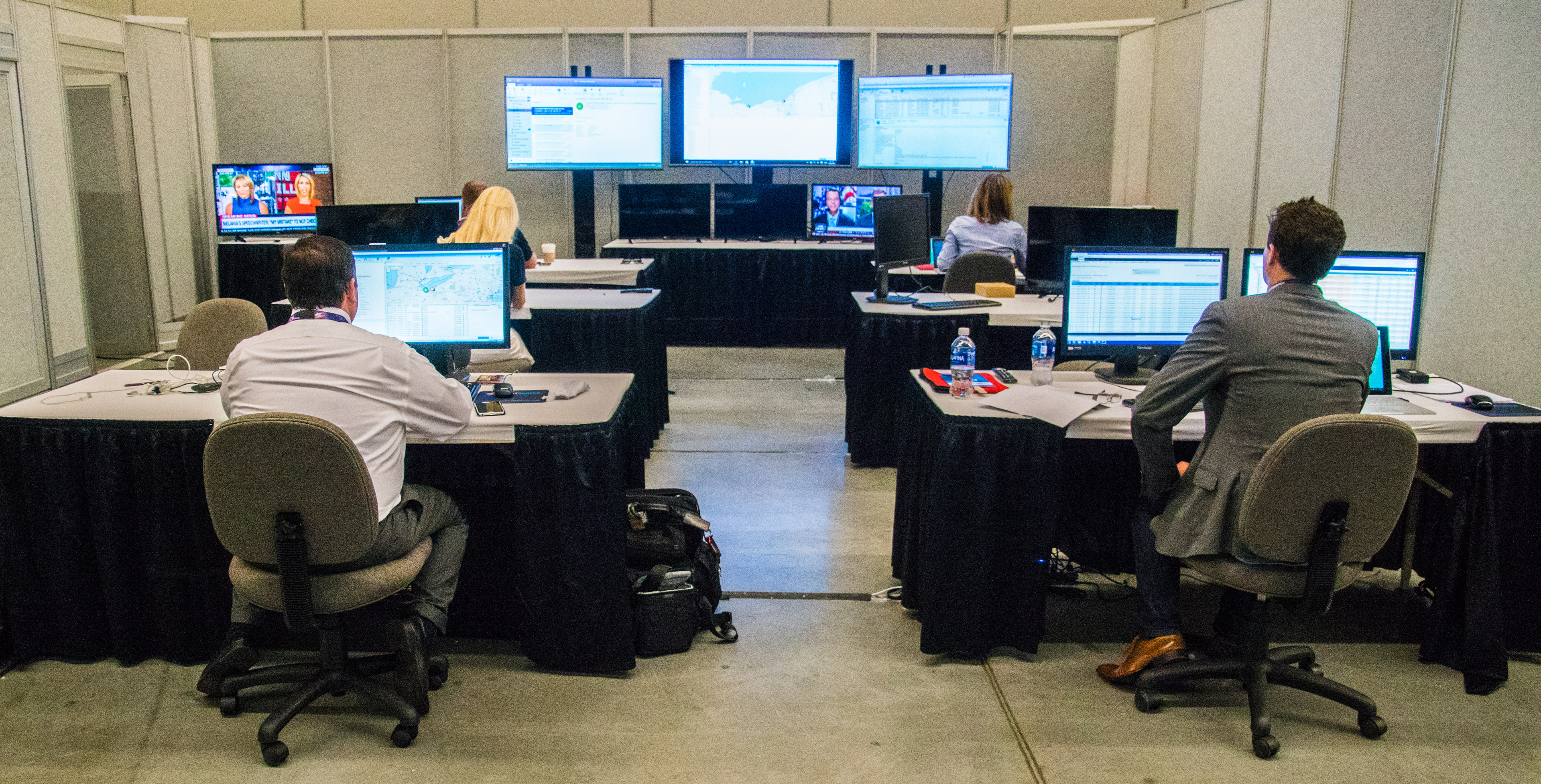 Inside the Republican National Convention's network operations center.