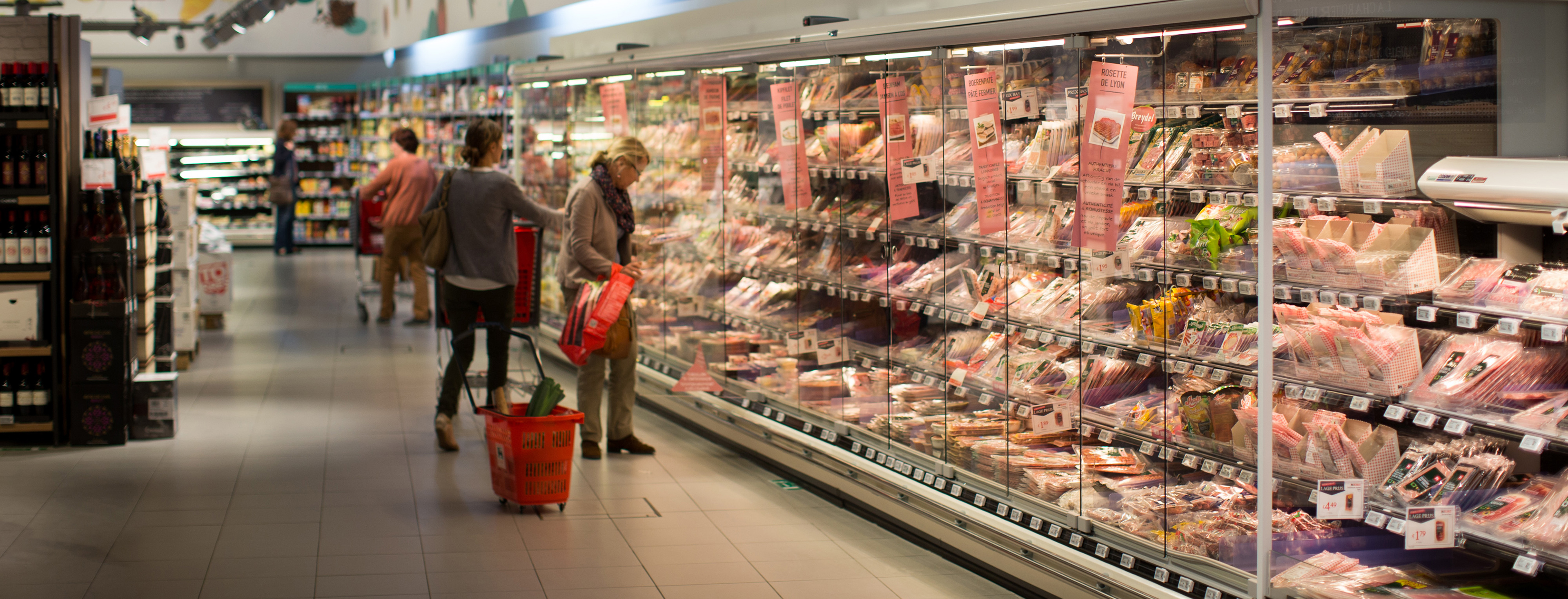 Shoppers Inside A Delhaize Group SA Supermarket As Merger With Royal Ahold NV Looms
