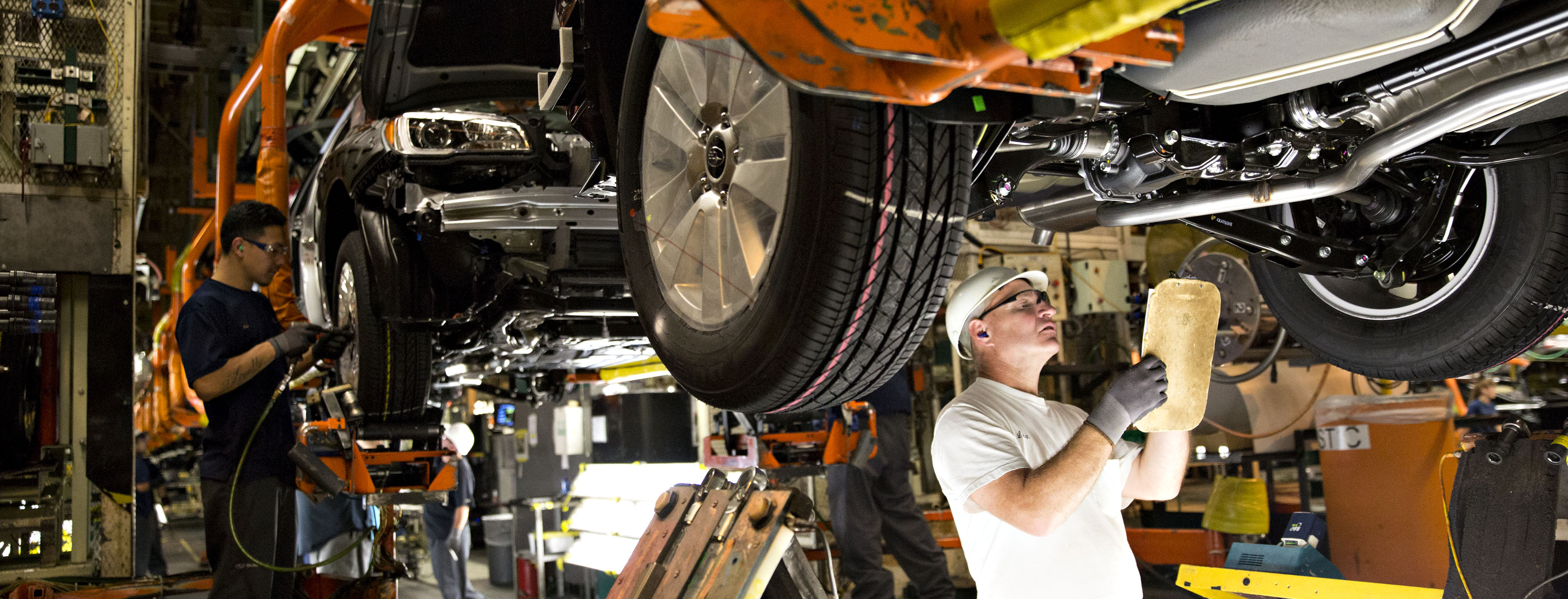 Operations Inside A Subaru Production Facility Ahead Of Factory Order Figures