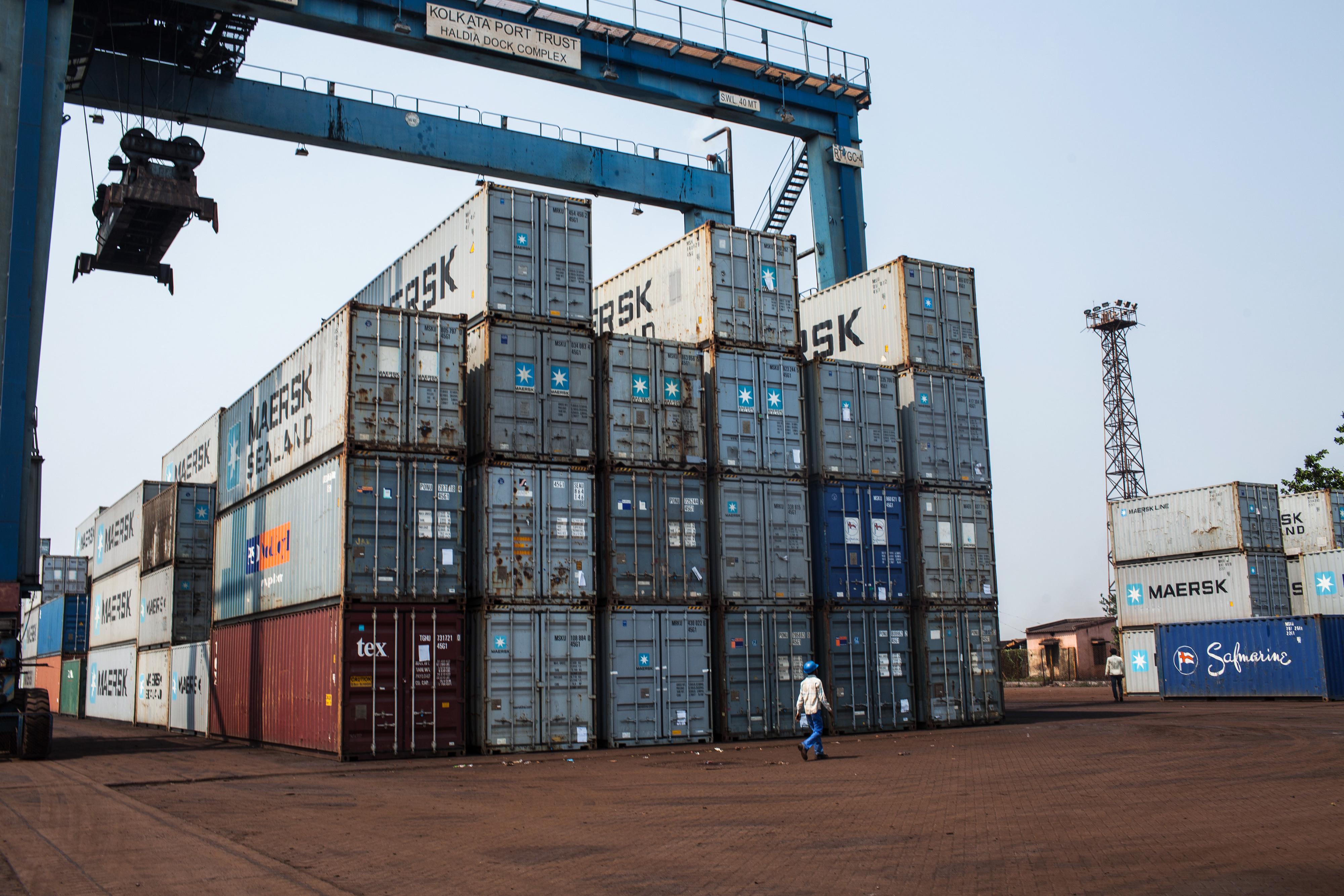 Operations Inside Kolkata And Haldia Ports As Imports and Exports Fall