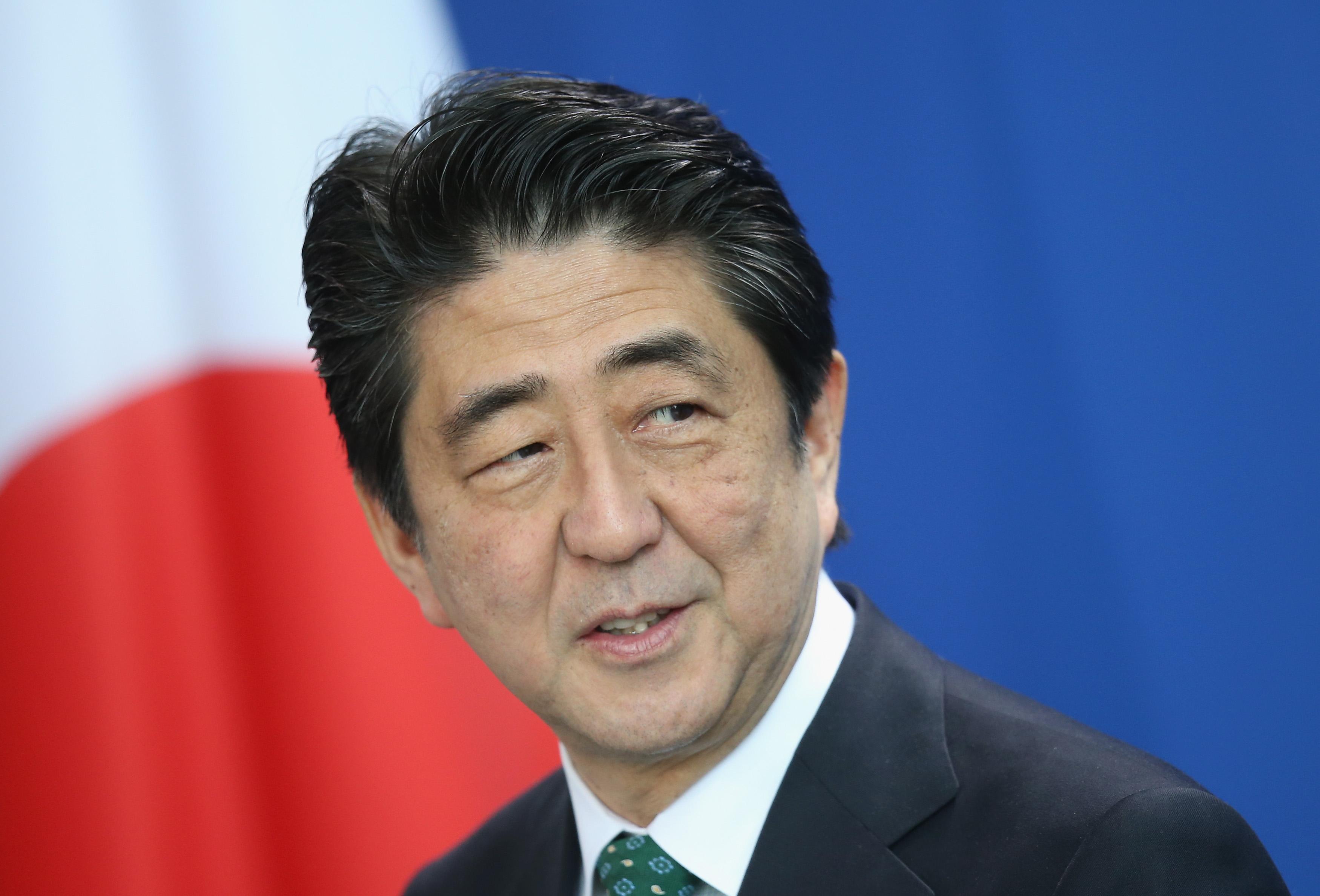 Japanese Prime Minister Abe Visits Berlin