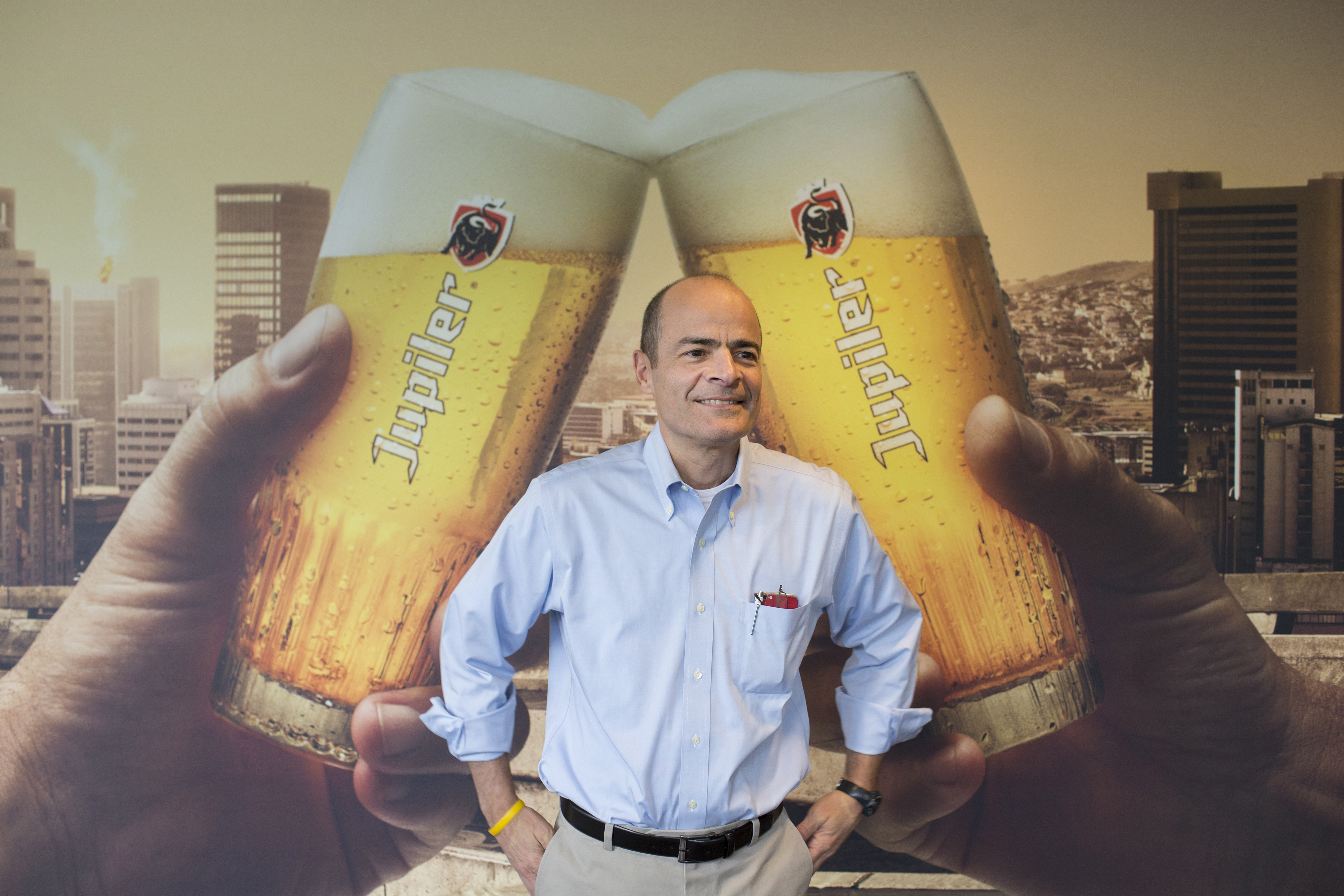 Anheuser-Busch InBev NV Chief Executive Officer Carlos Brito Attends Full Year Results News Conference As Mainstream Beer Demand Dries Up